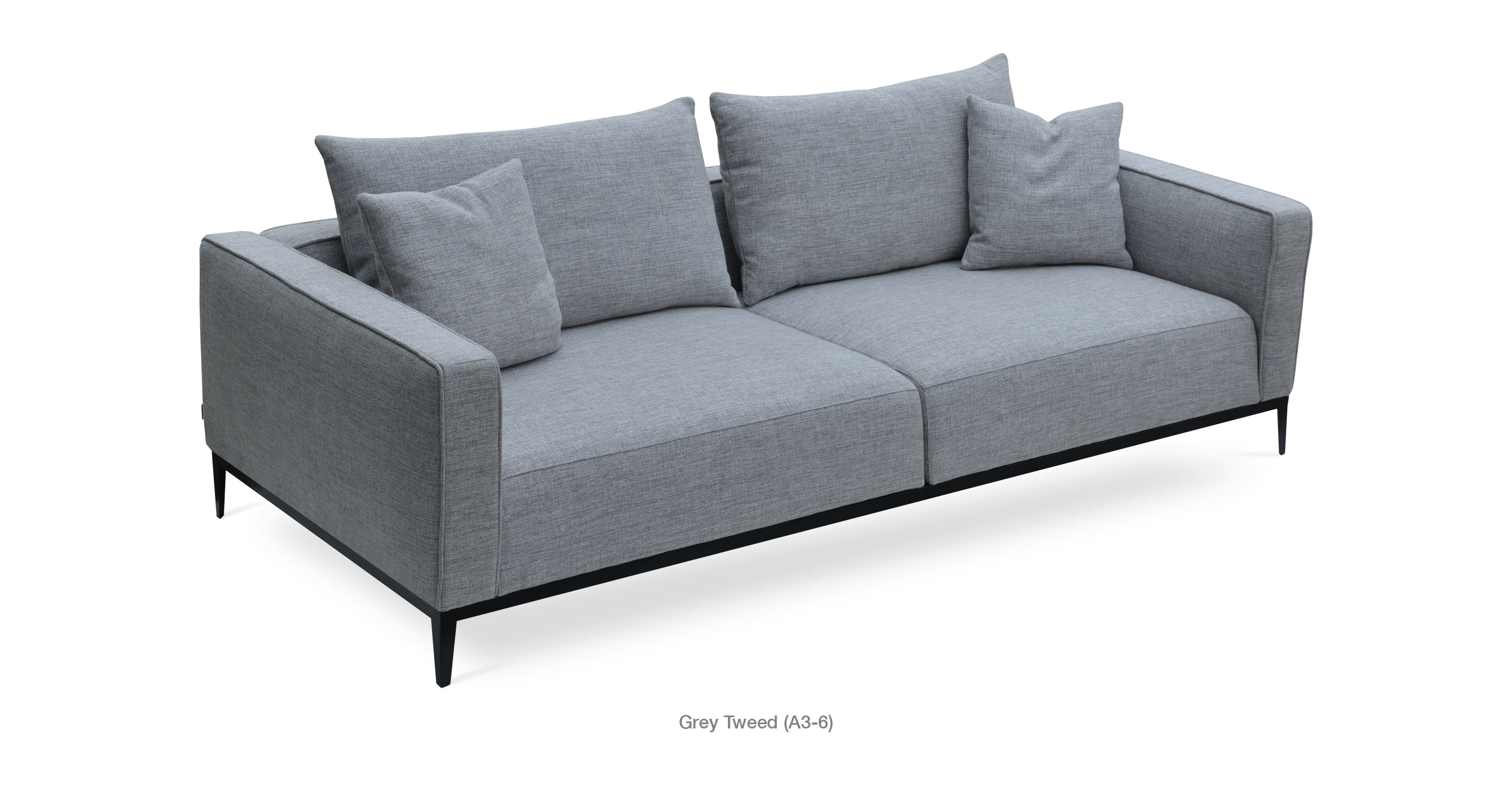 California sofa contemporary modern sofas sohoconcept for Grey tweed couch