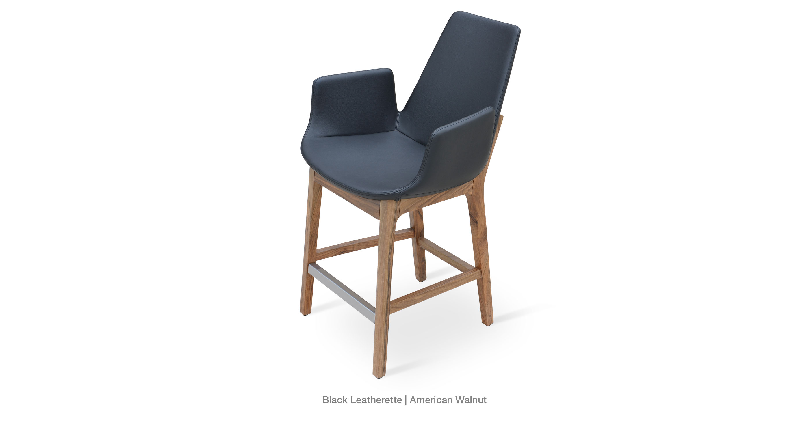 Superb img of Eiffel Wood Arm Contemporary Stool Chairs sohoConcept with #6F4D38 color and 2800x1500 pixels