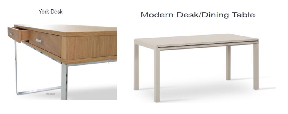 york desk modern table