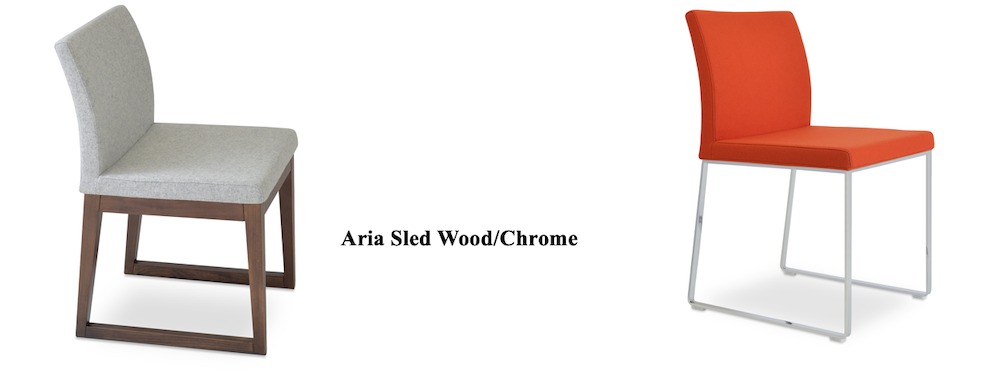 aria sled wood chrome
