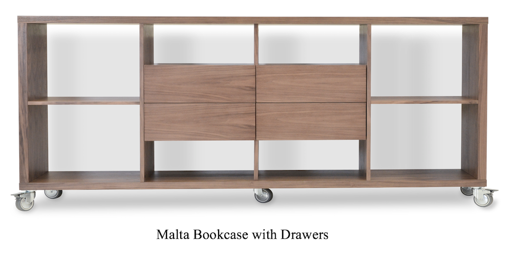 MaltaBookcase with Drawers