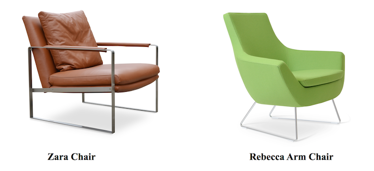 using modern armchairs for business blog sohoconcept