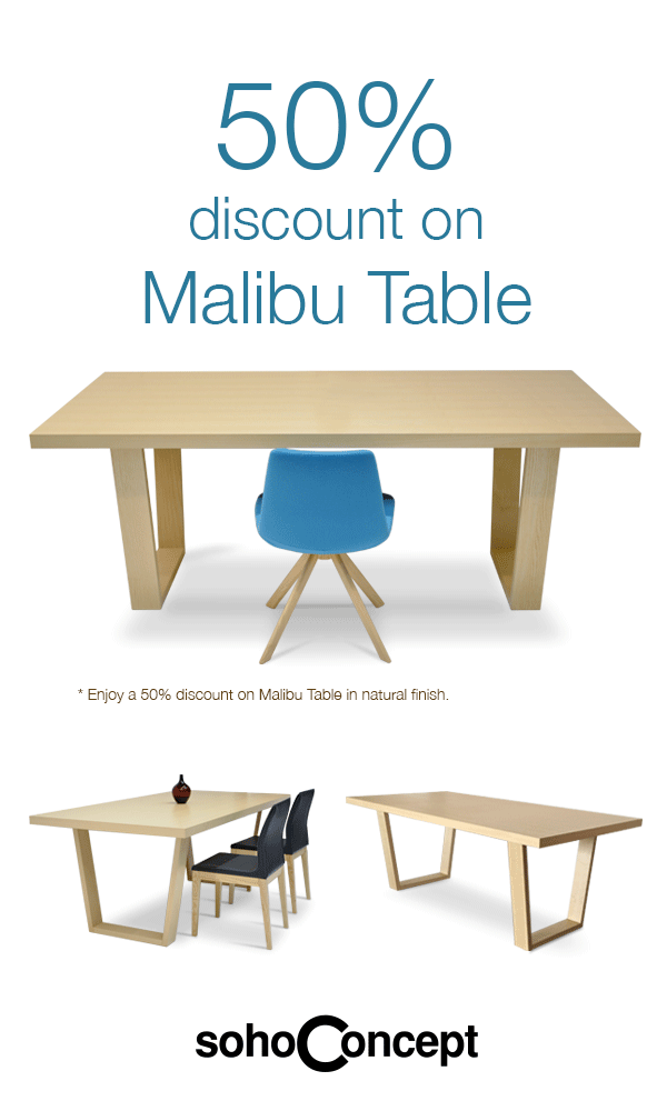 Malibu Table 50% Discount