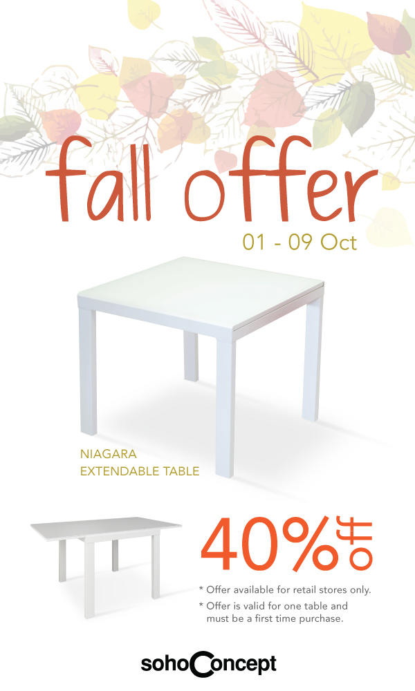 Fall Offer 1-9 October