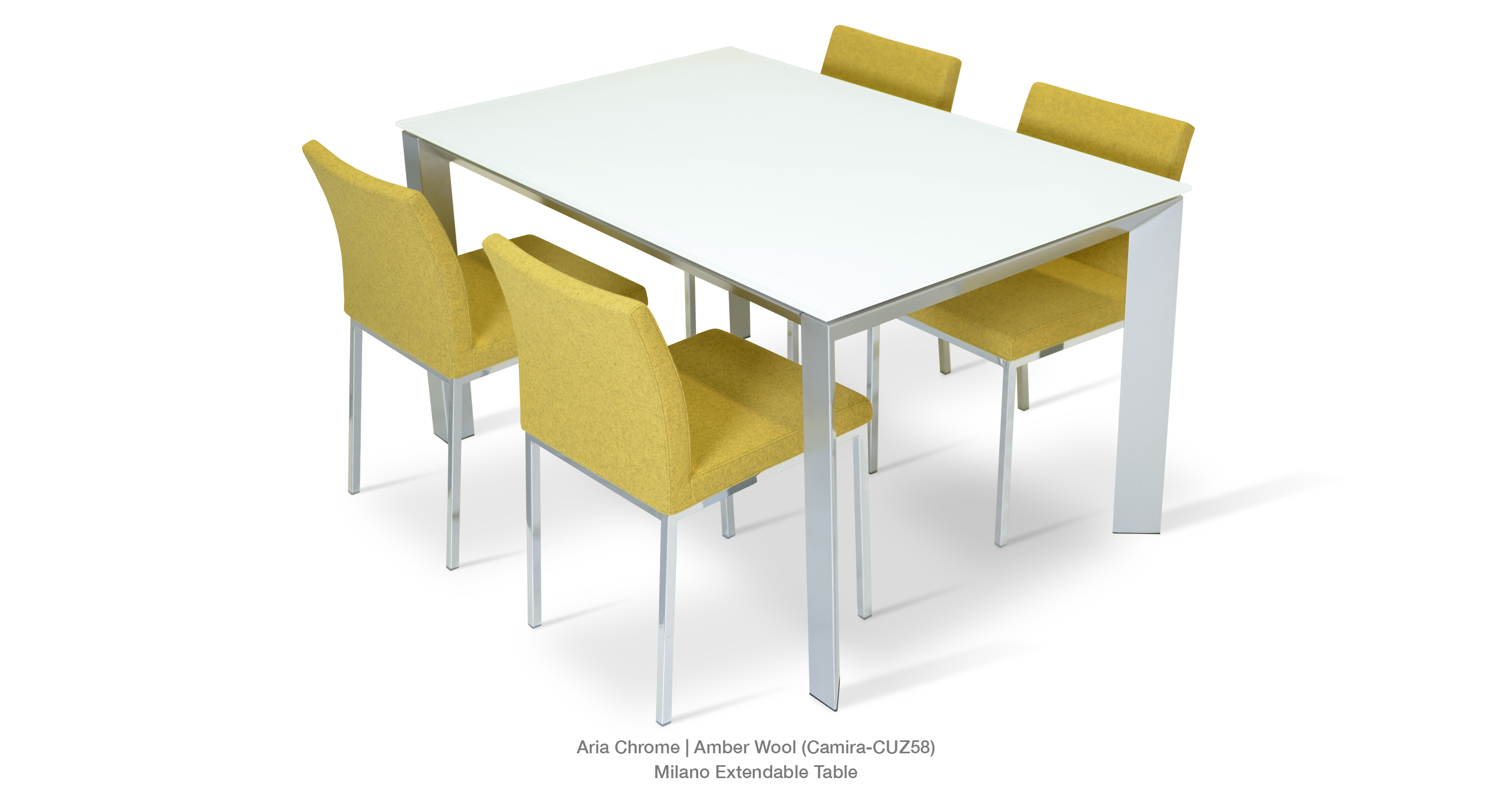 aria chrome with milano table modern dining chairs   aria metal by sohoconcept  rh   sohoconcept com