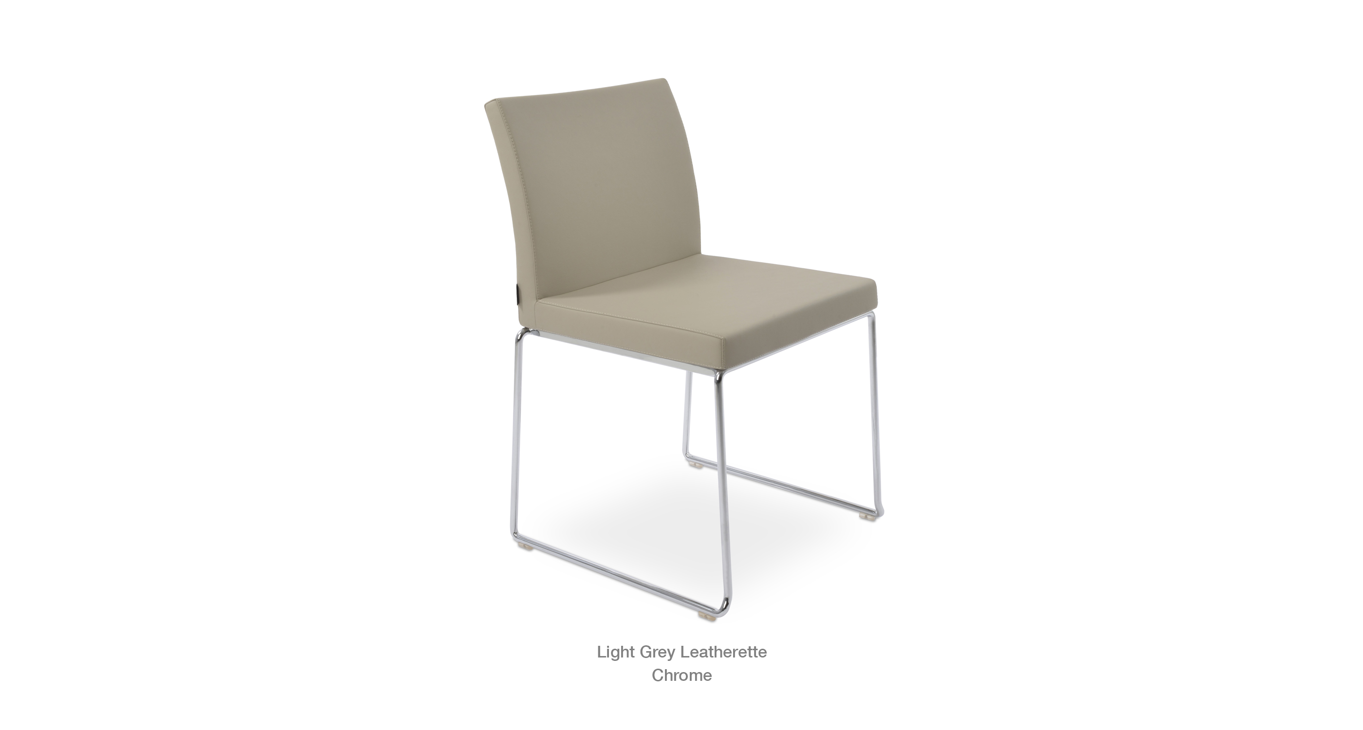 Aria Stackable Light Grey Leatherette