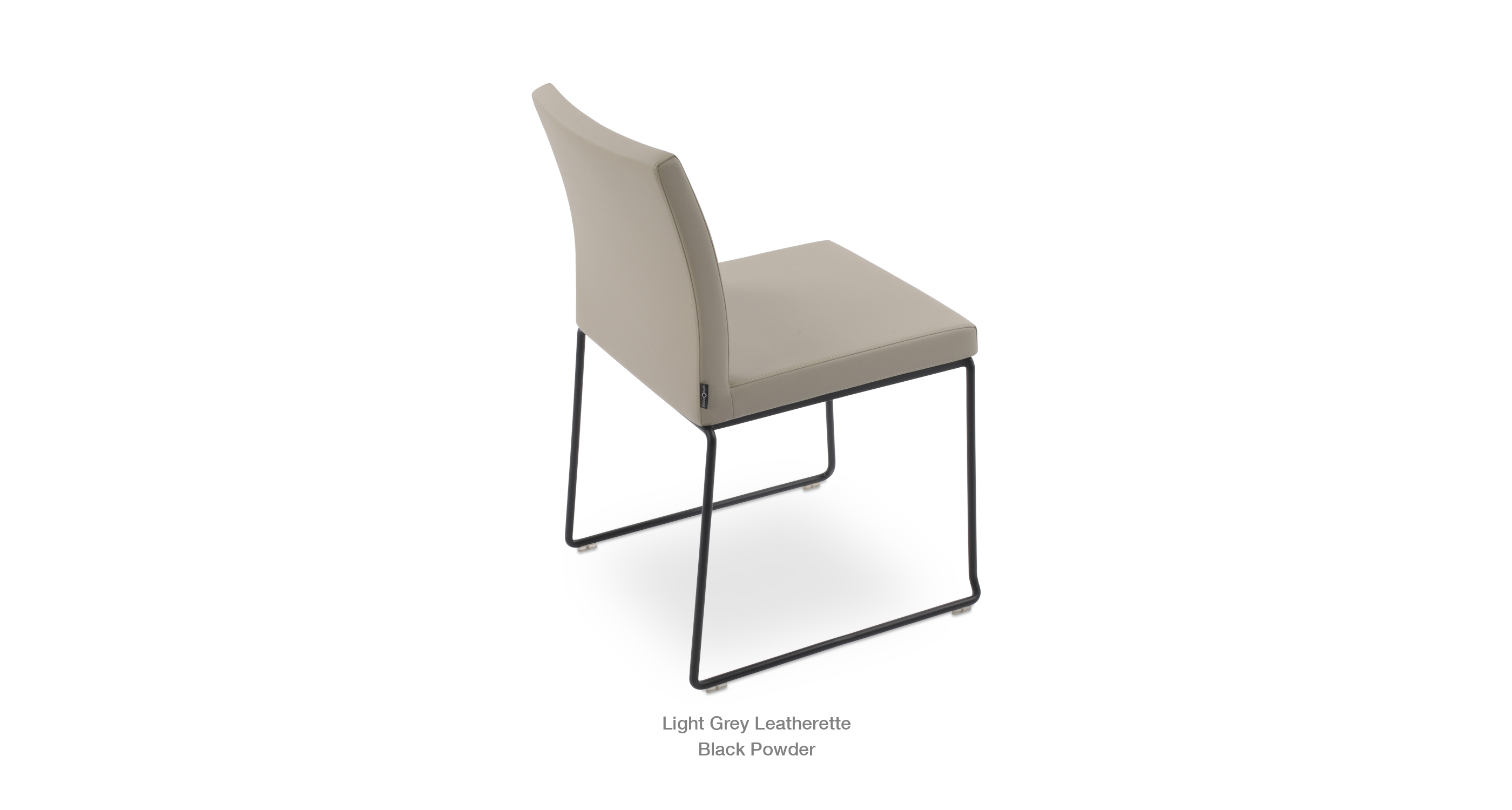 Aria Stackable Light Grey Leatherette Black Base