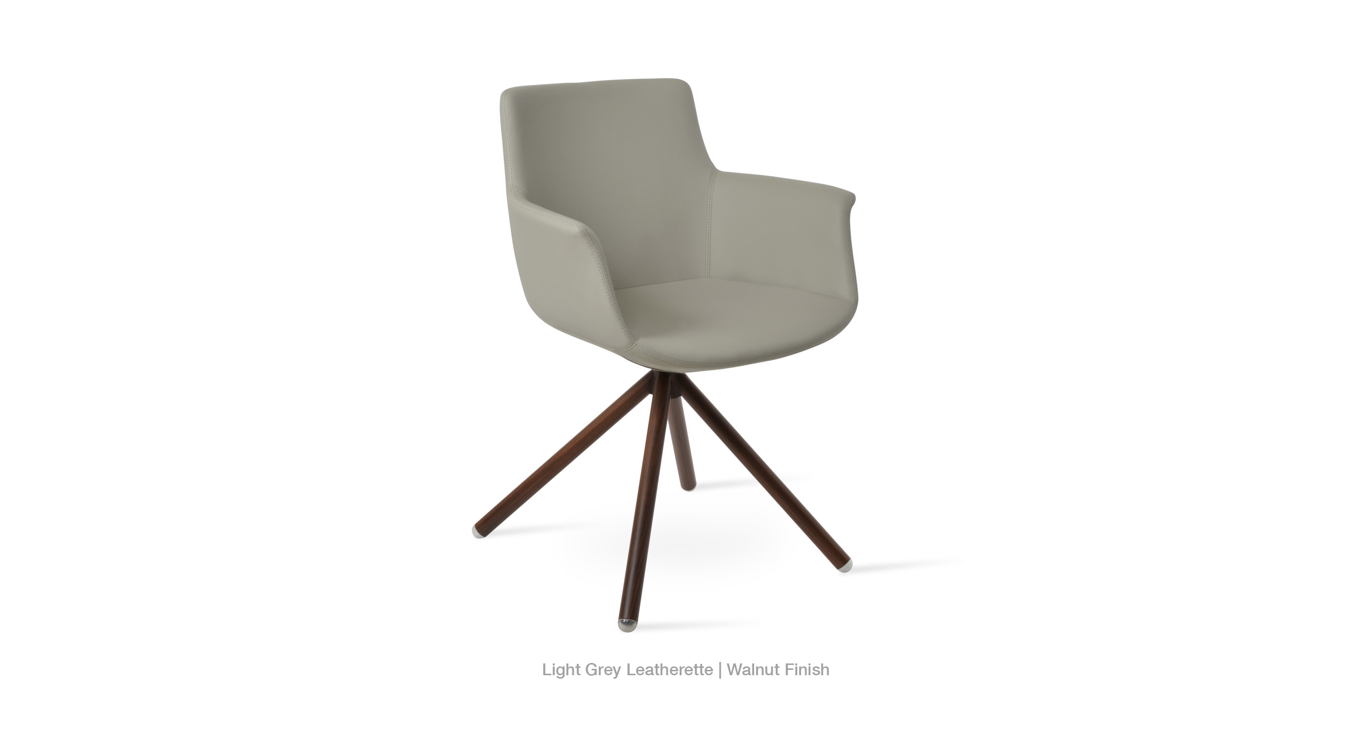 light grey leatherette