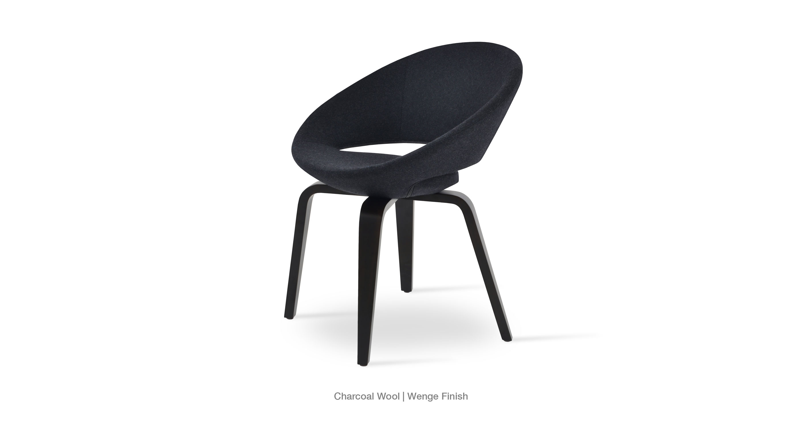 Crescent Plywood Charcoal Wool