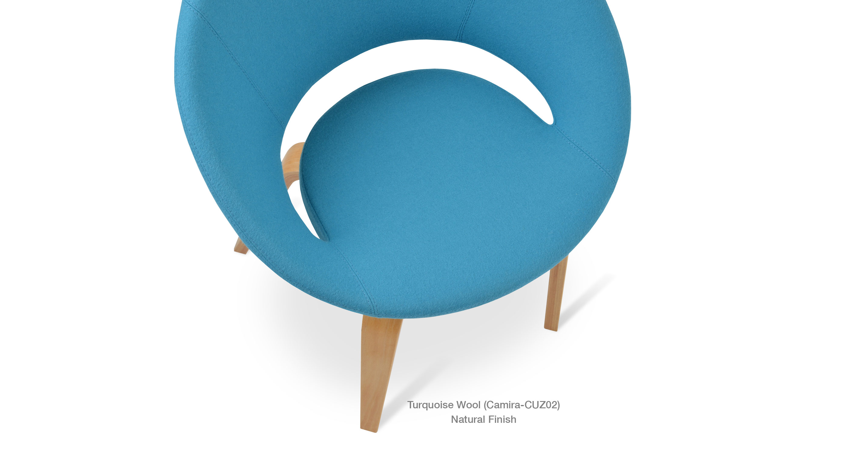 Crescent plywood turquoise close up
