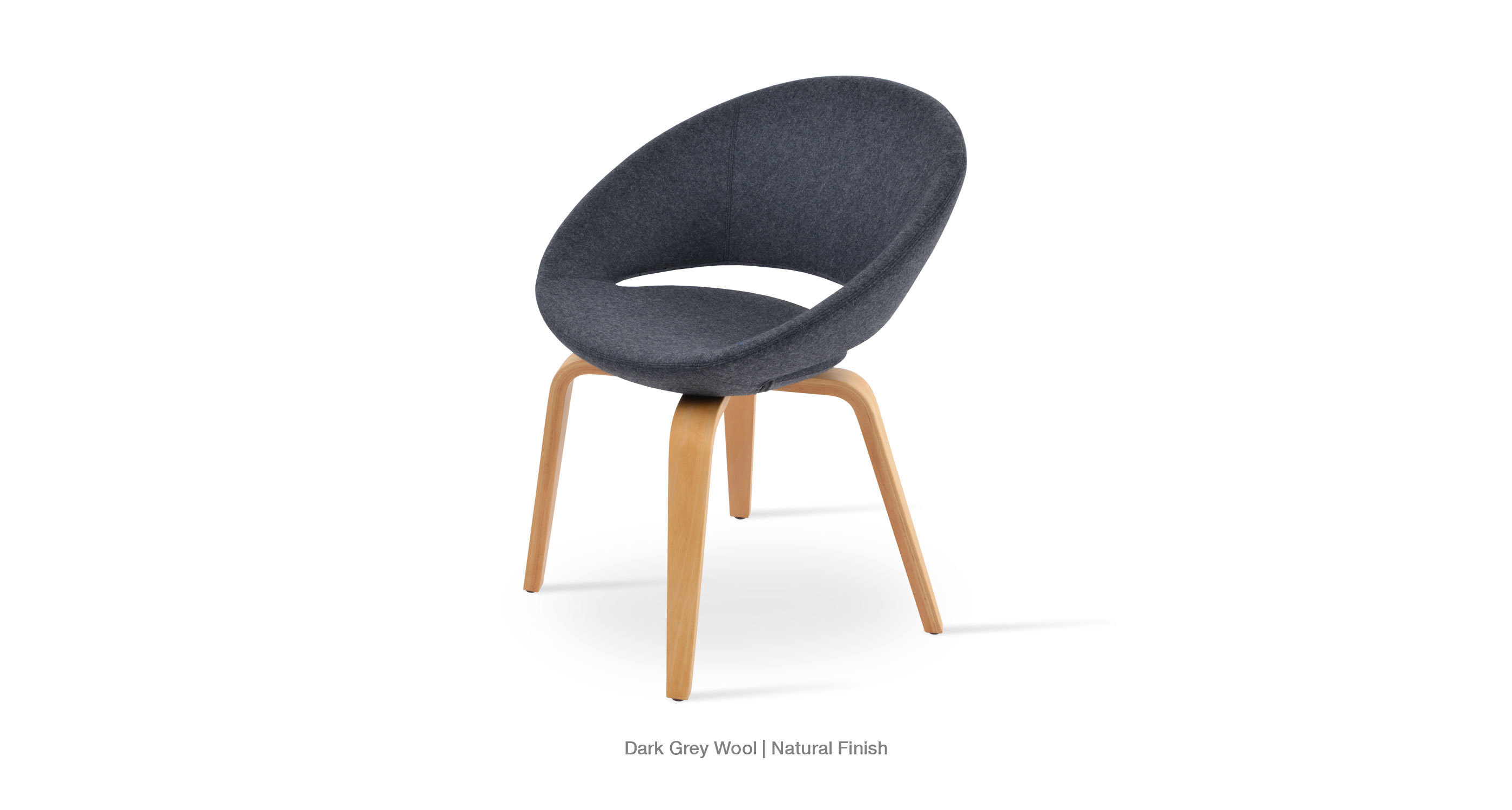 Crescent Plywood dark grey wool natural
