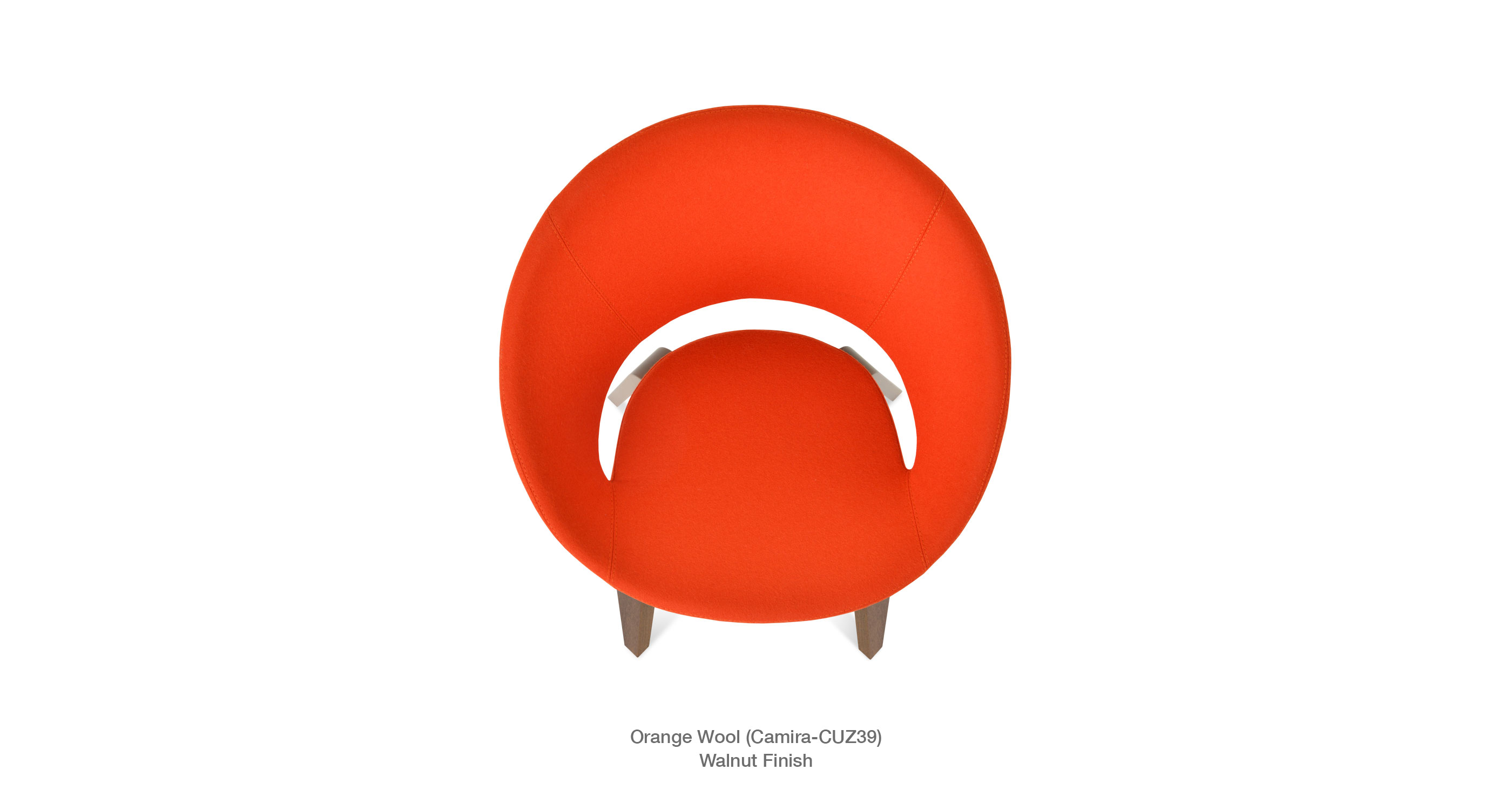 Crescent Plywood Orange - close