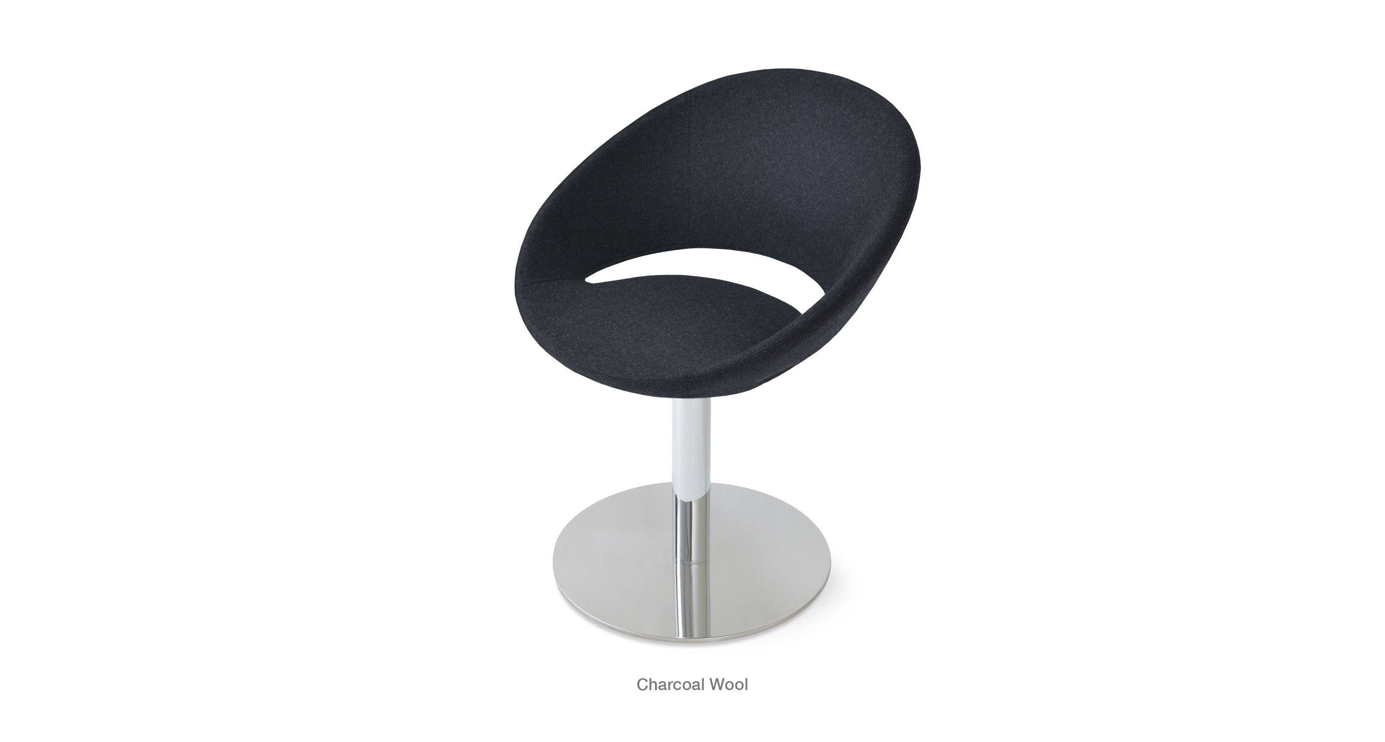 Crescent Round Charcoal