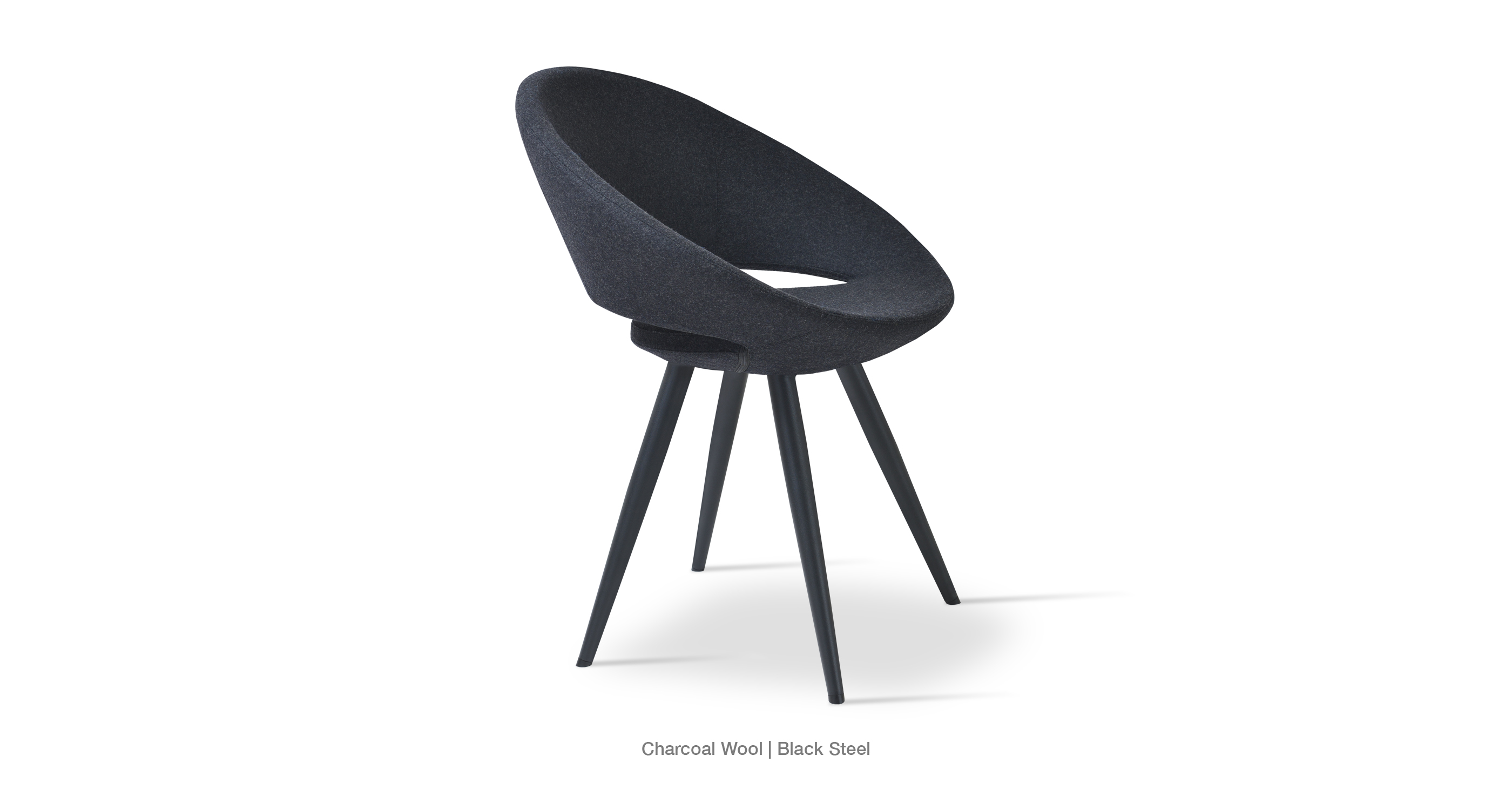Crescent Star Charcoal Wool Black base