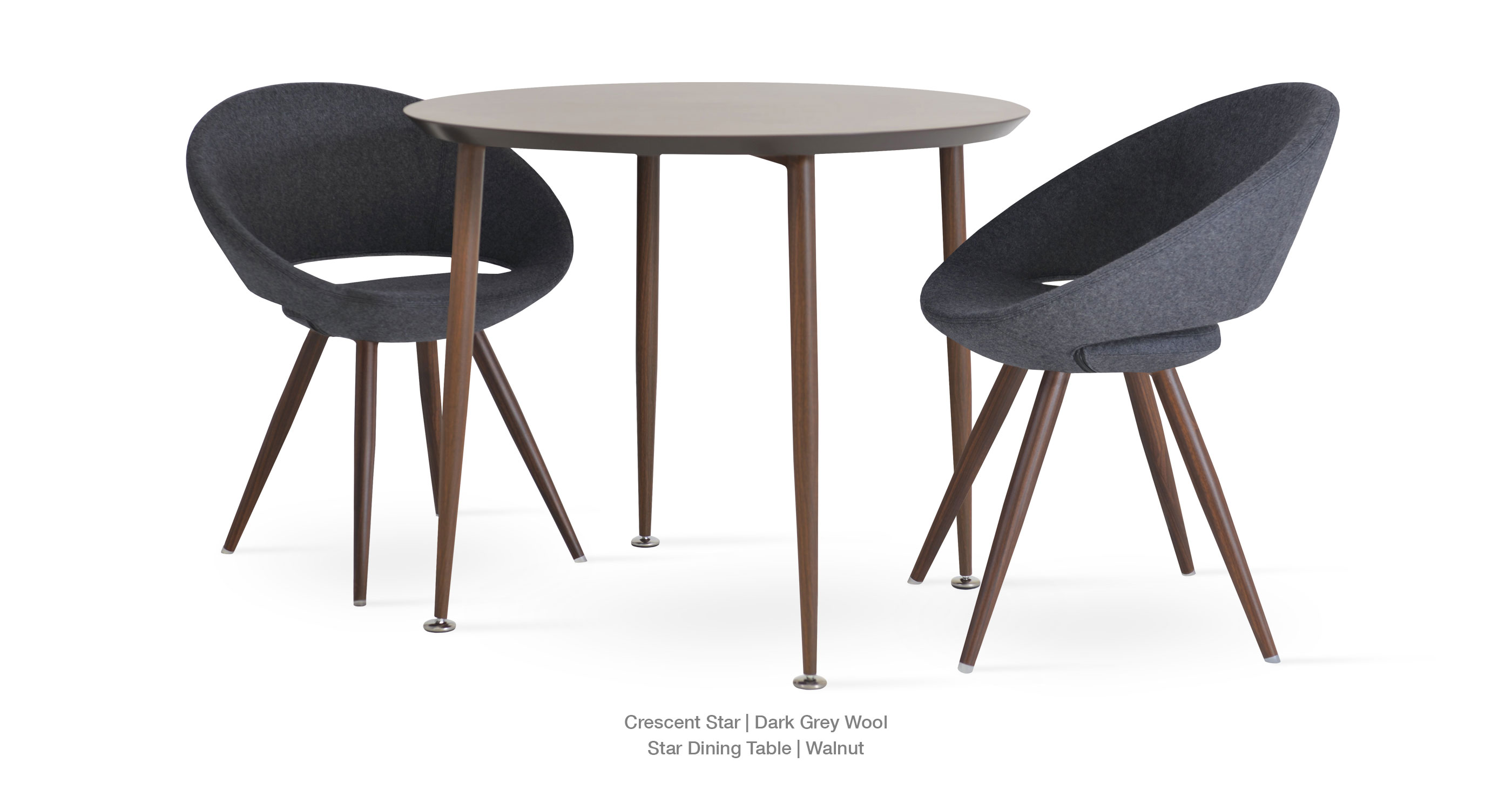 dark grey wool - Star Dining