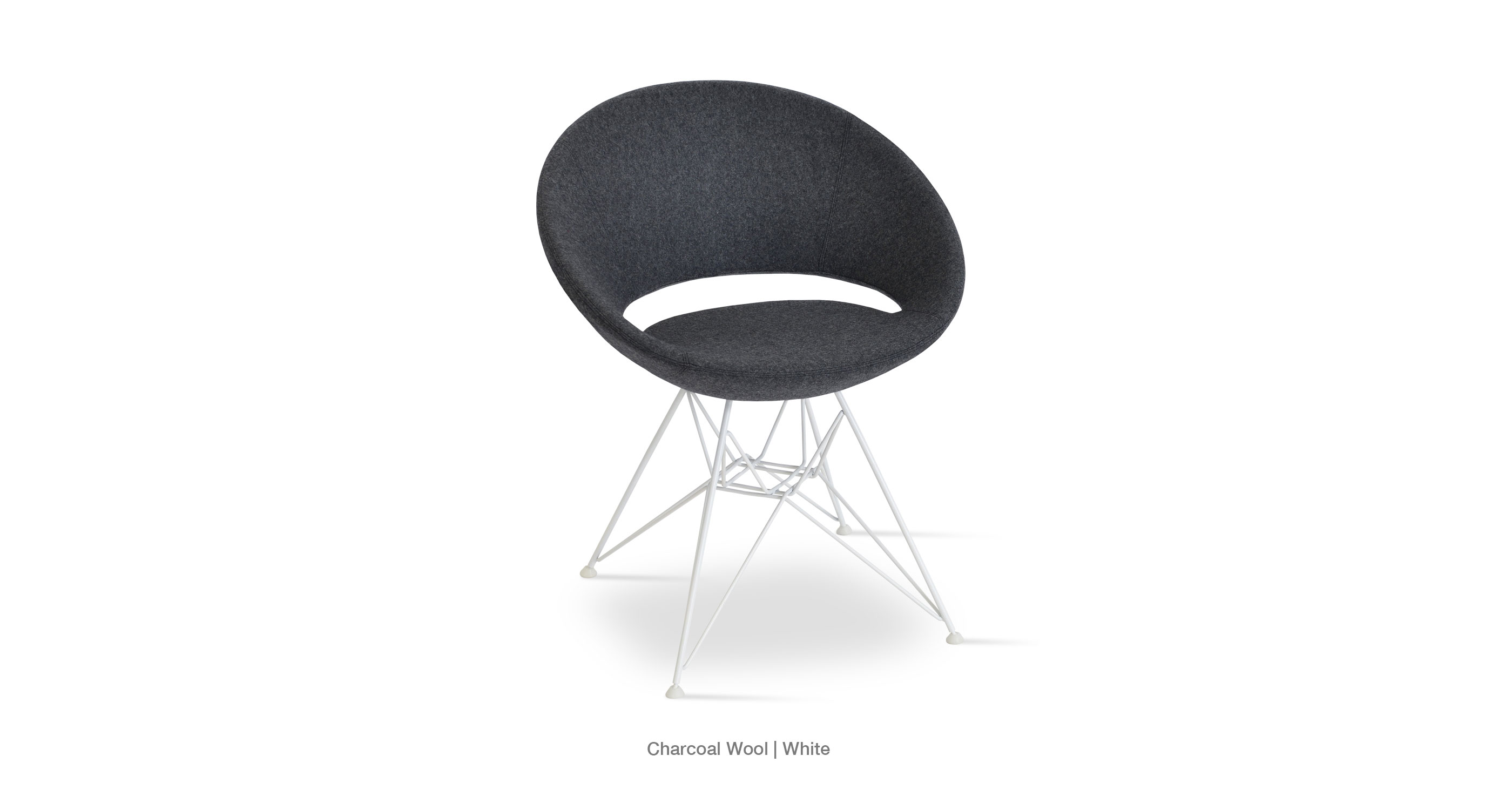 Crescent Tower Charcoal Wool White Base
