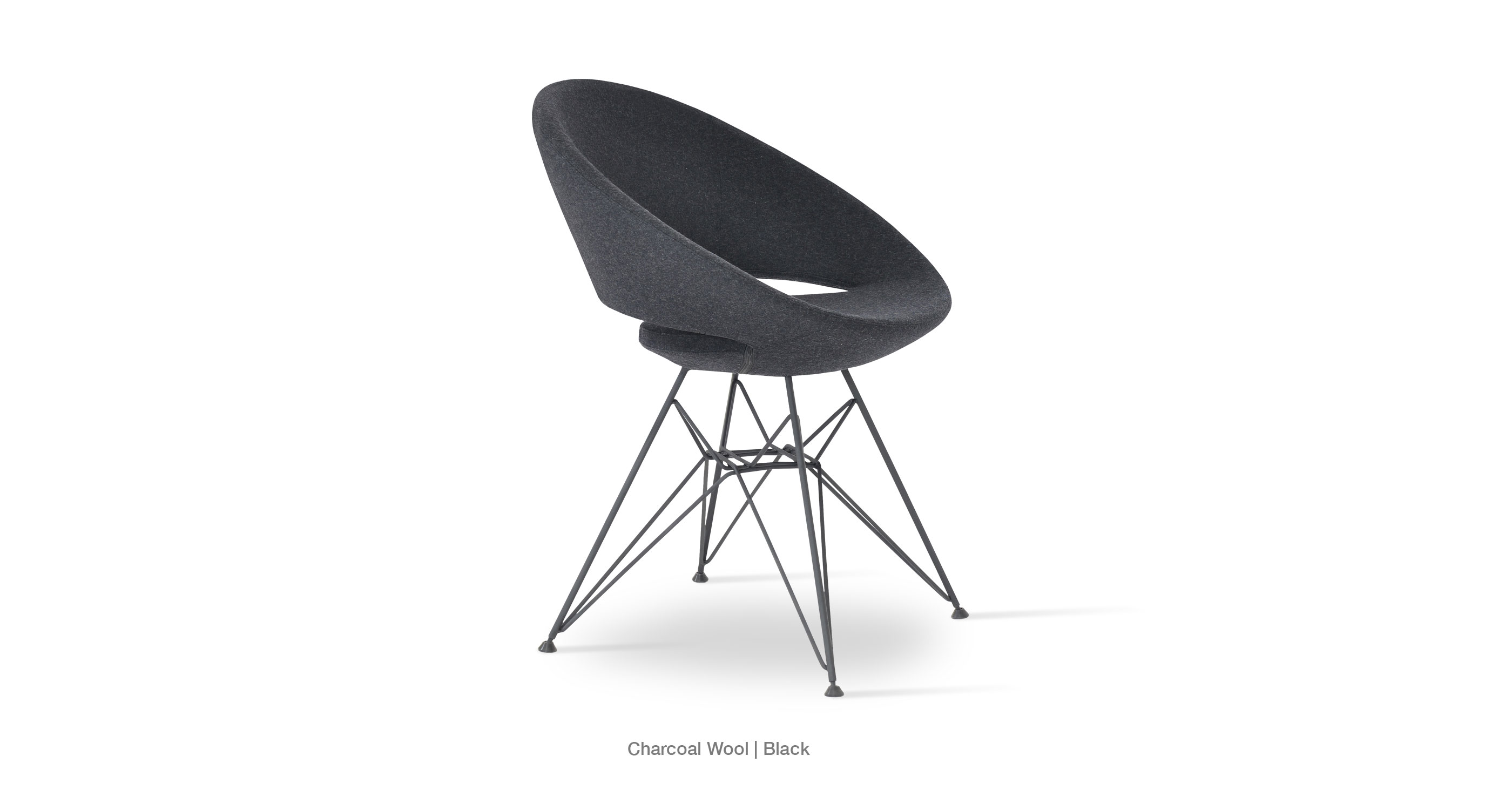 Crescent Tower Charcoal Wool Black Base