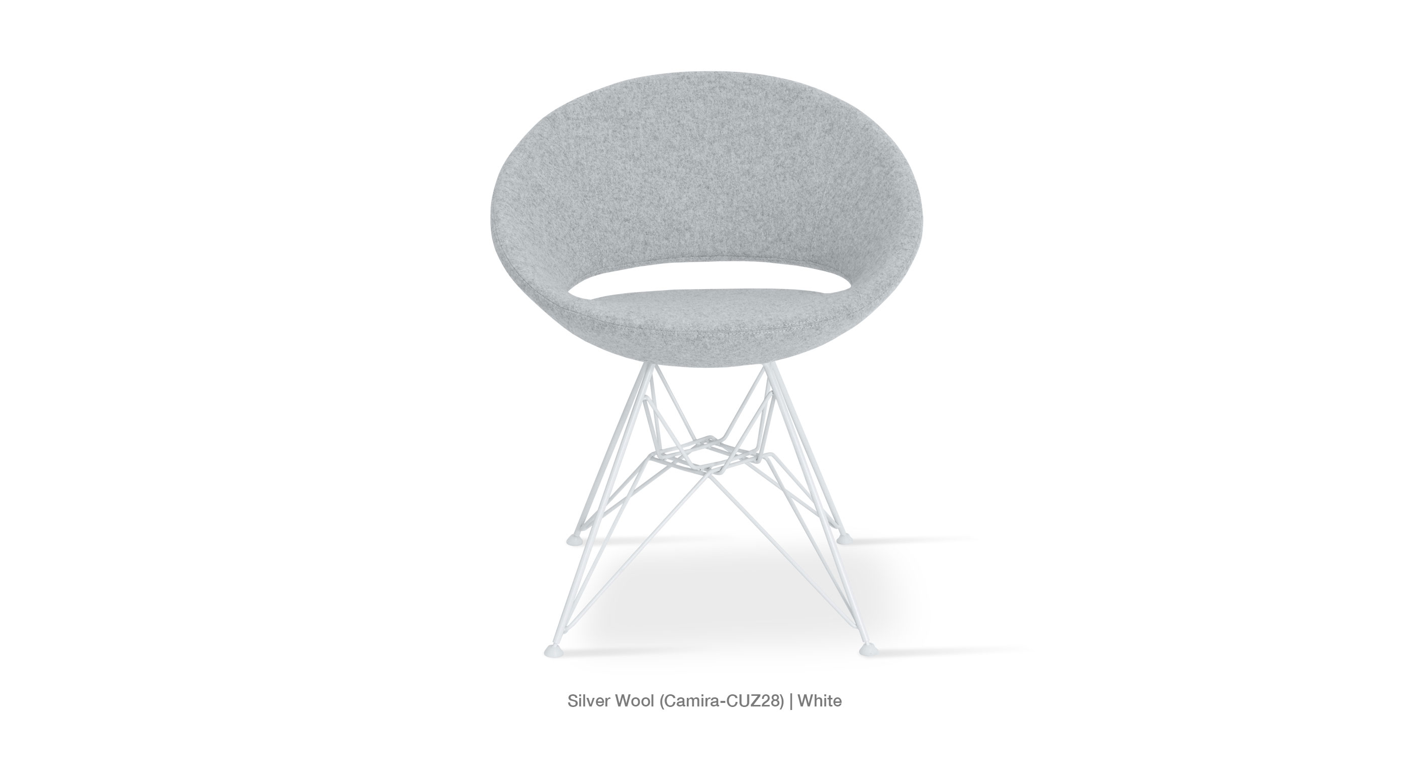 Crescent Tower Silver Camira White Base