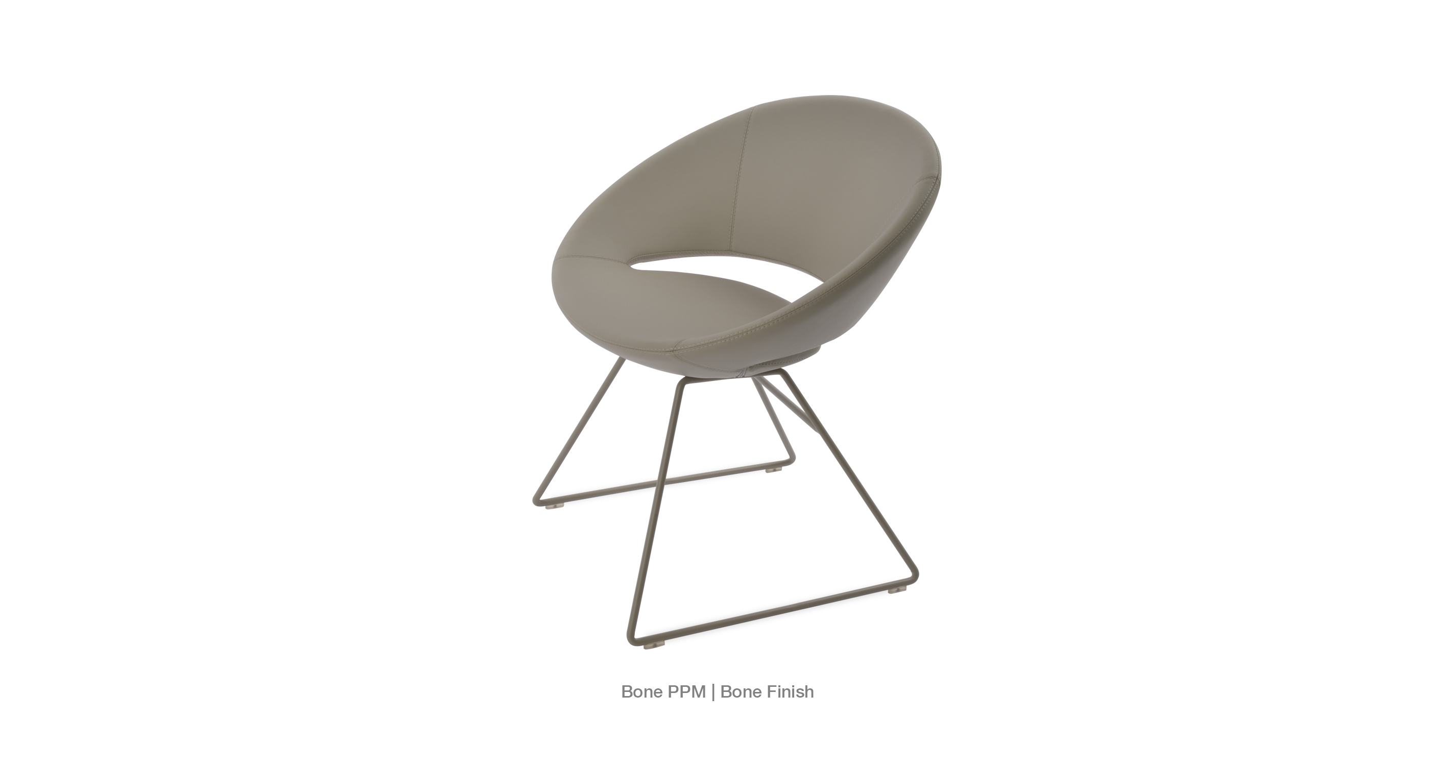 Crescent Wire Modern Dining Chairs Sohoconcept