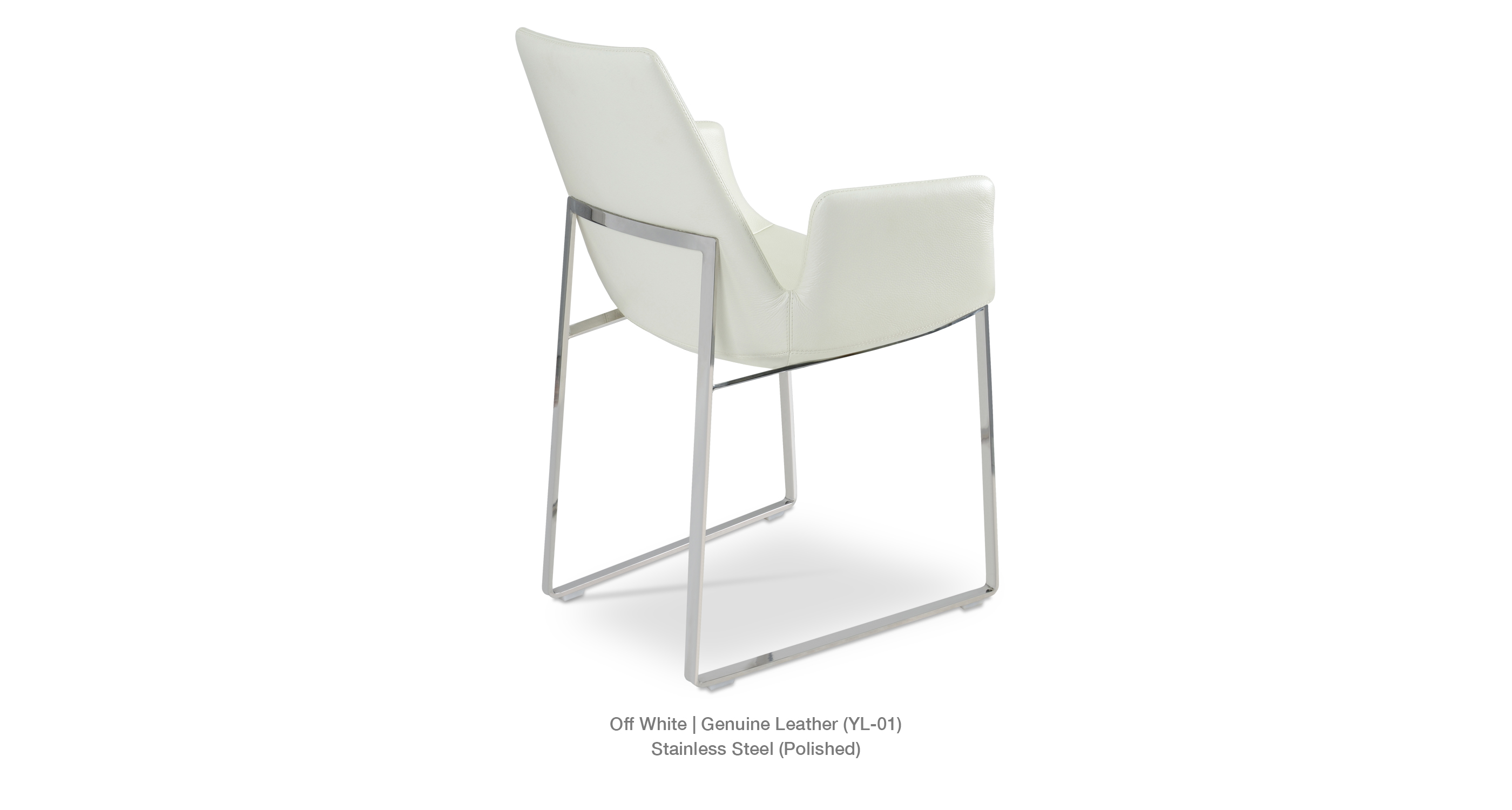 Eiffel Arm Sled Off White Leather