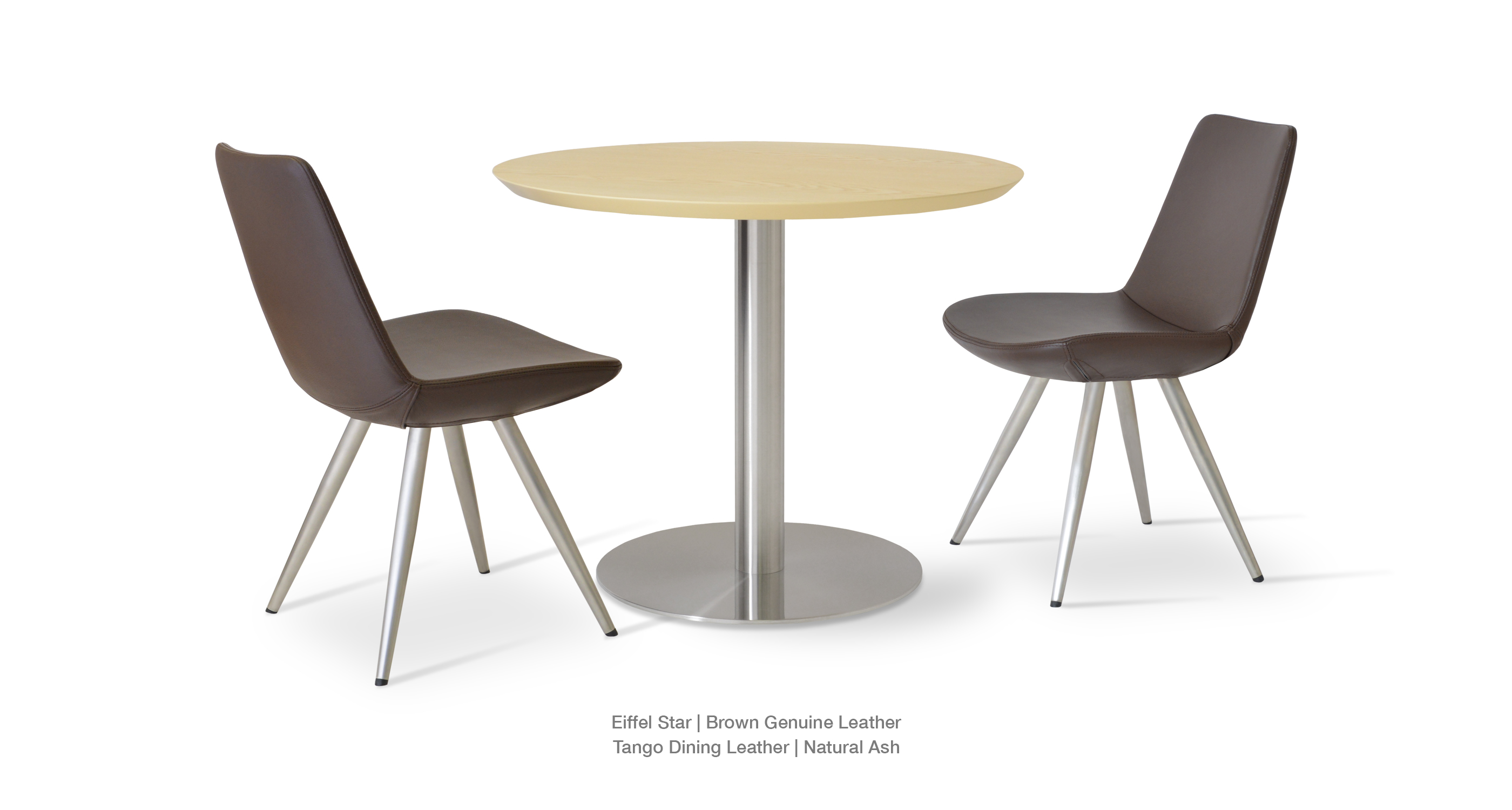 Eiffel Star Brown G Leather Tango Dining