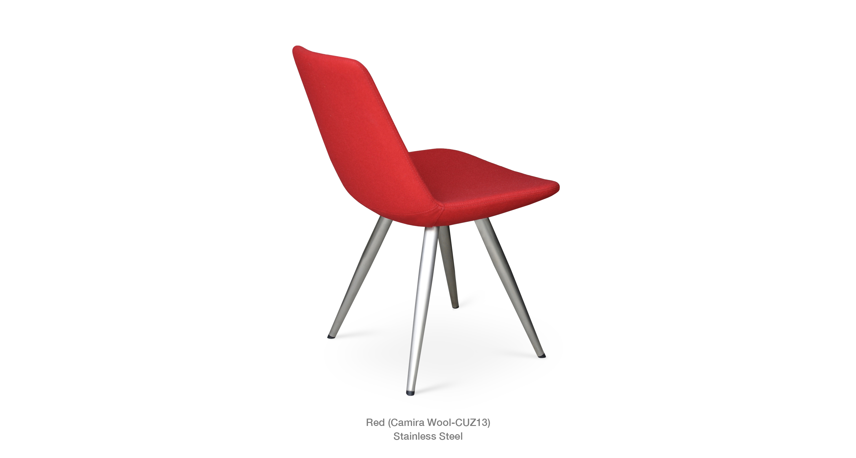 Eiffel Star Red Wool Stainless steel Base