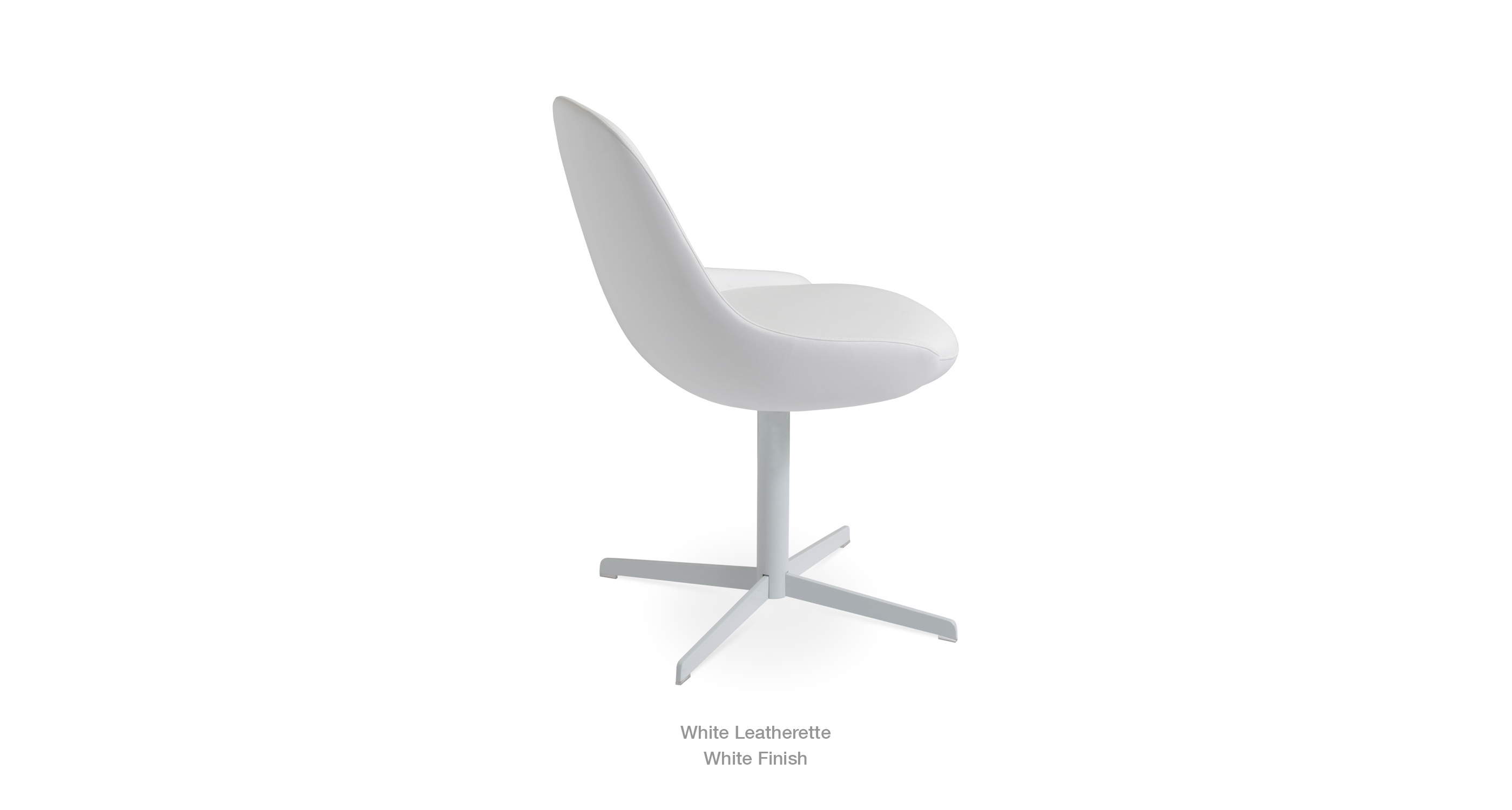 white leathertte - white base