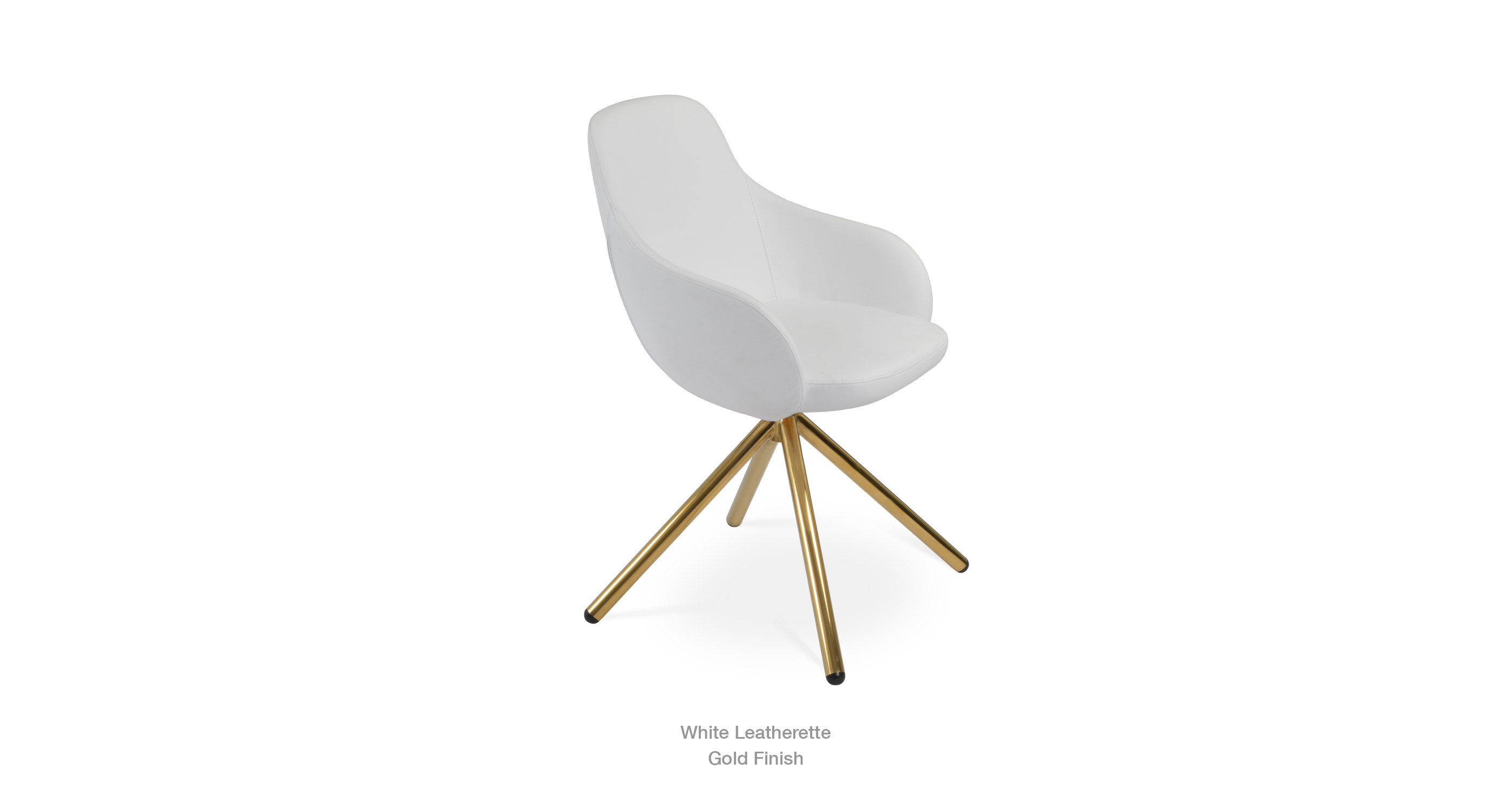 white leathertte - gold