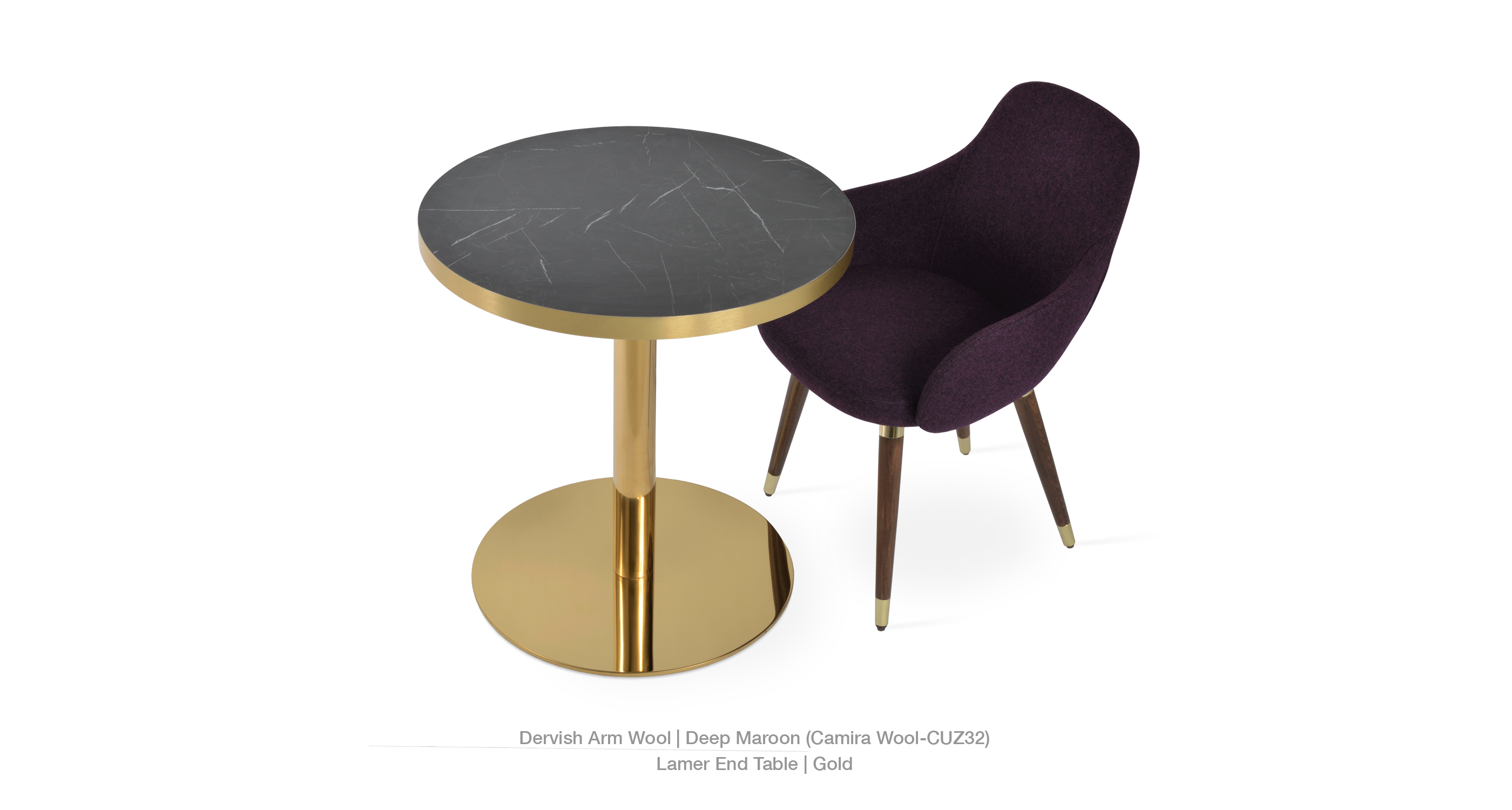 deep maroon - lamer table