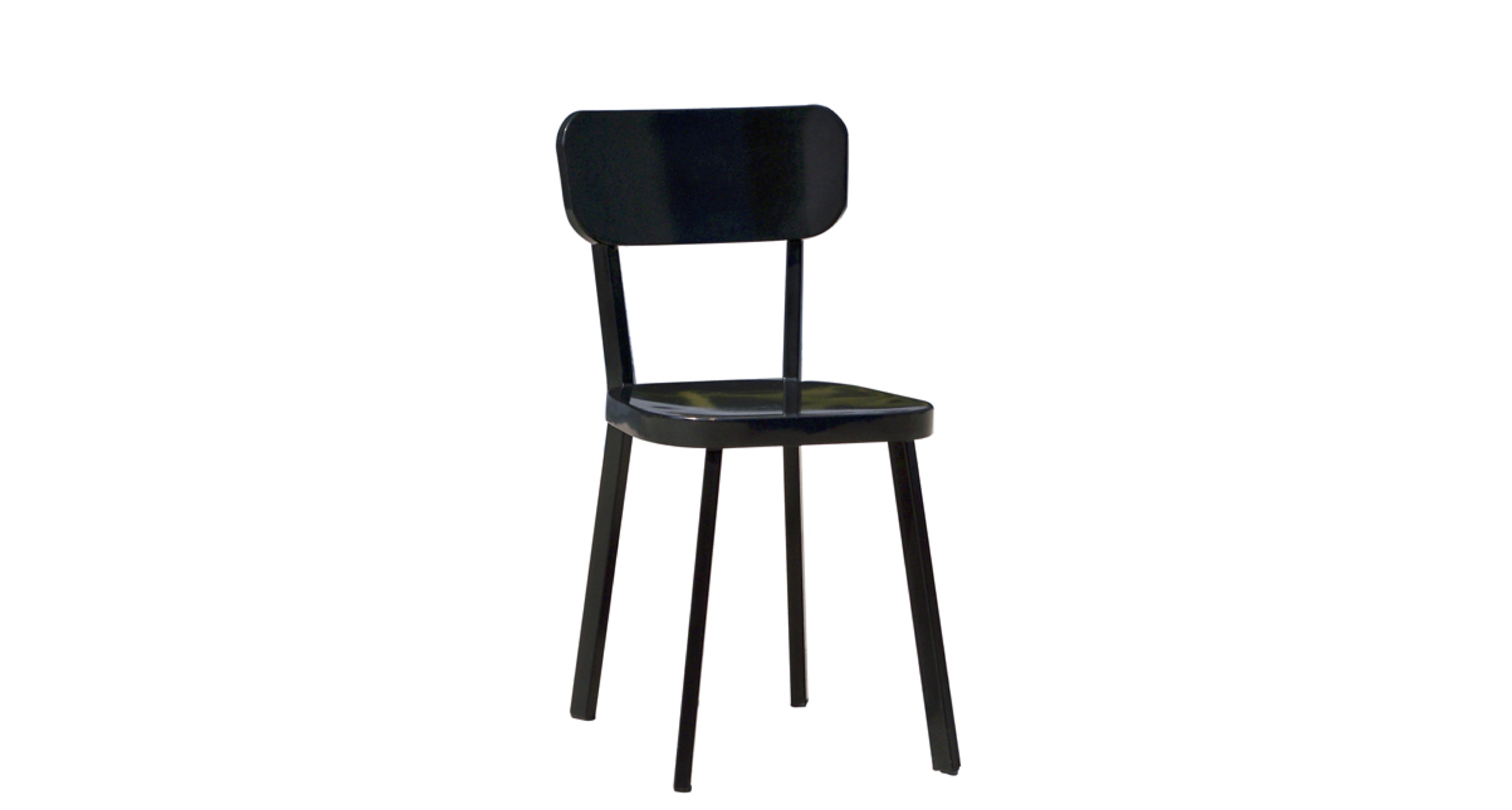 Park Chair Steel  Black