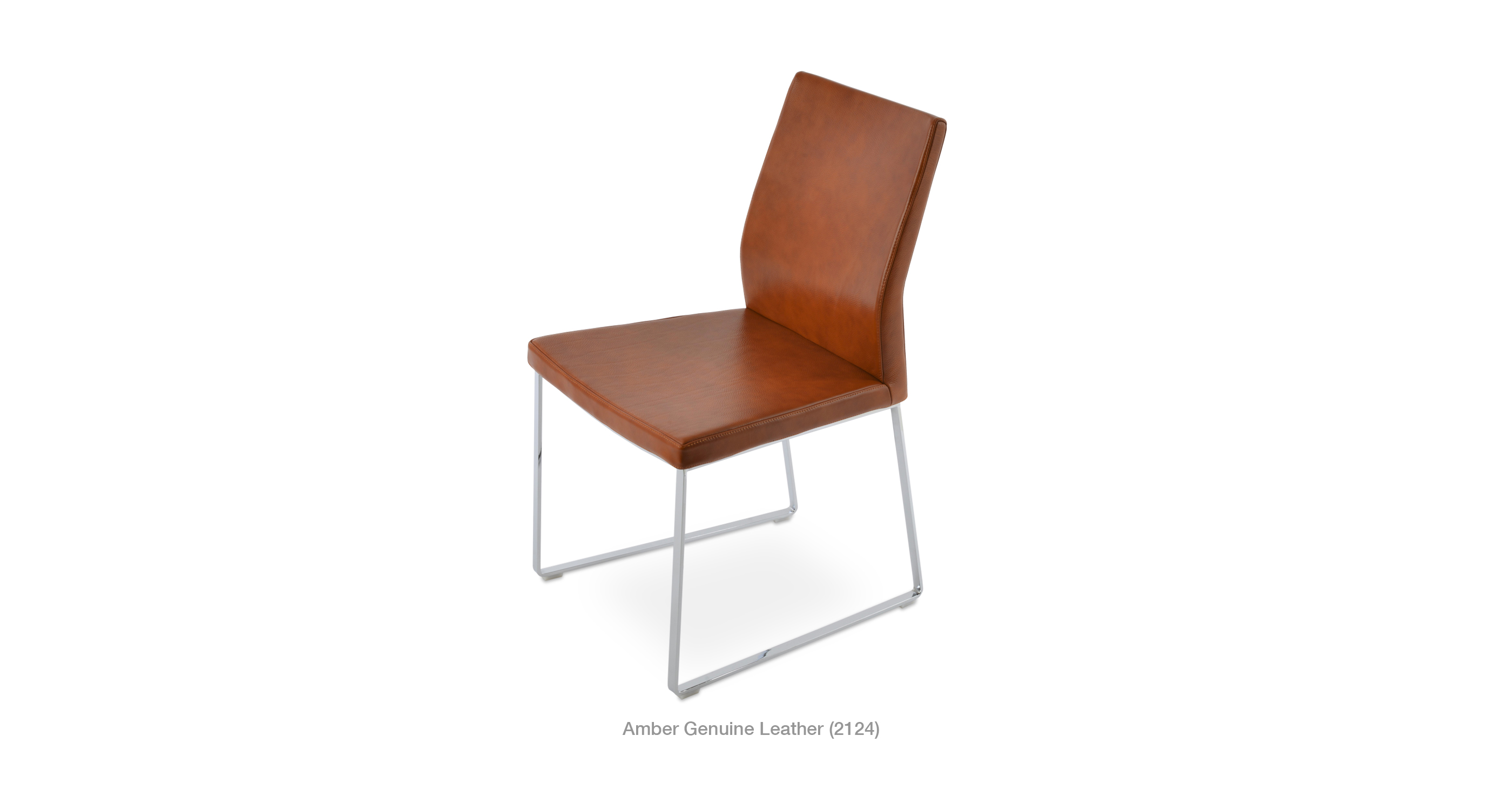 Leather Accent Chairs Metal Legs Caramel.Pasha Sled Modern Ergonomic Lounge Chair Sohoconcept