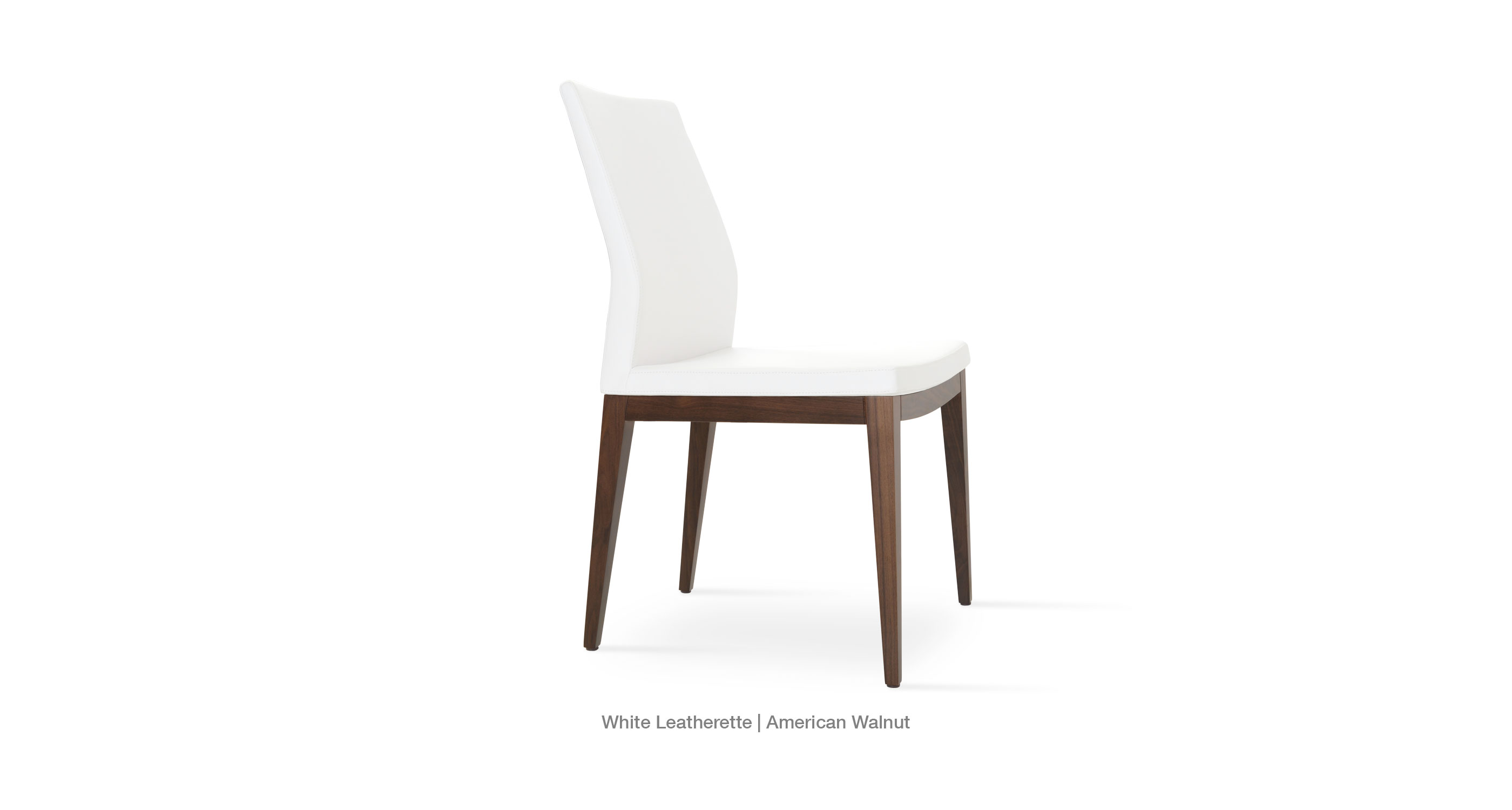 White Leatherette American Walnut