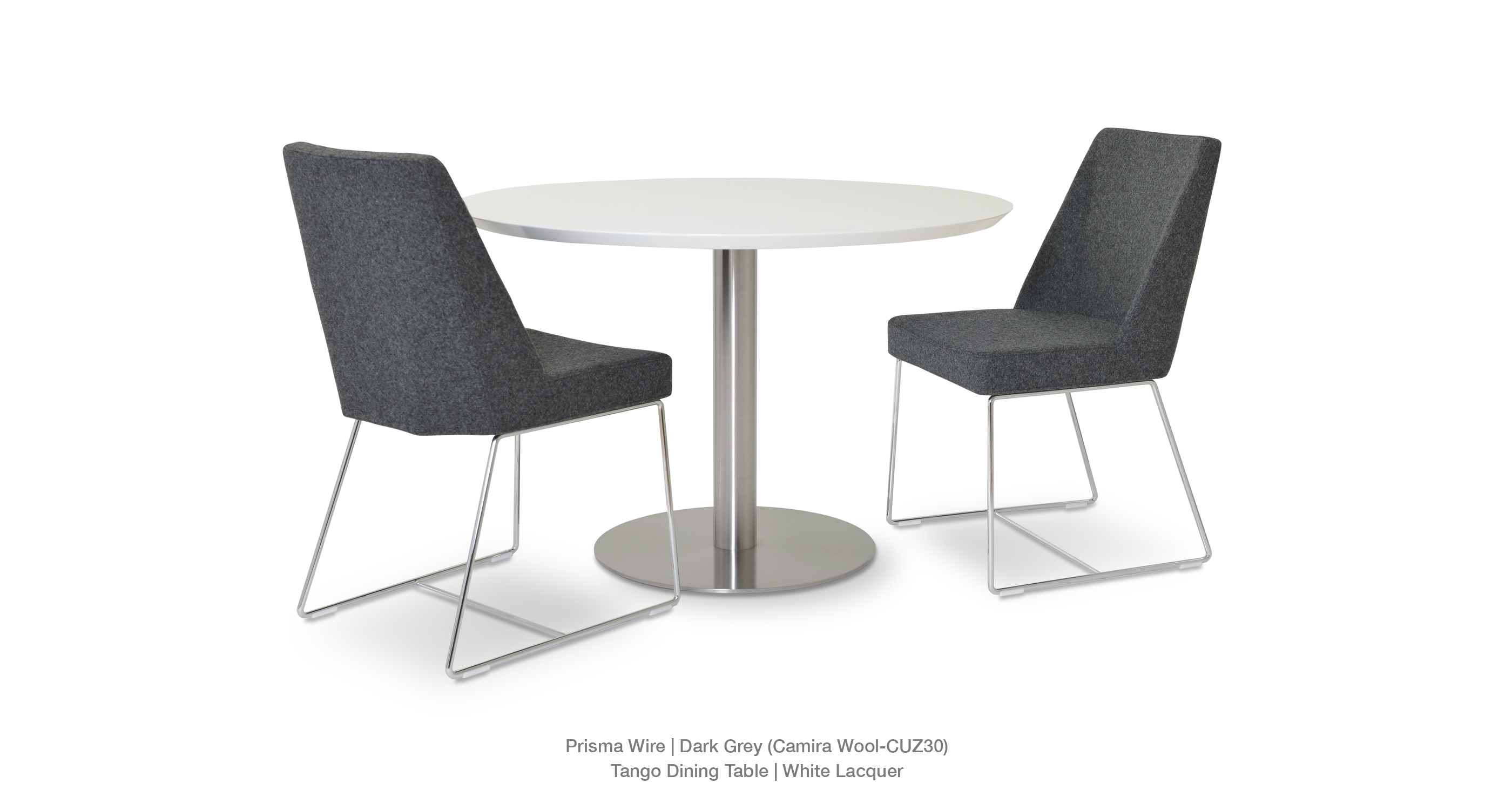 Prisma Wire Dark Grey Wool Tango Dining Table