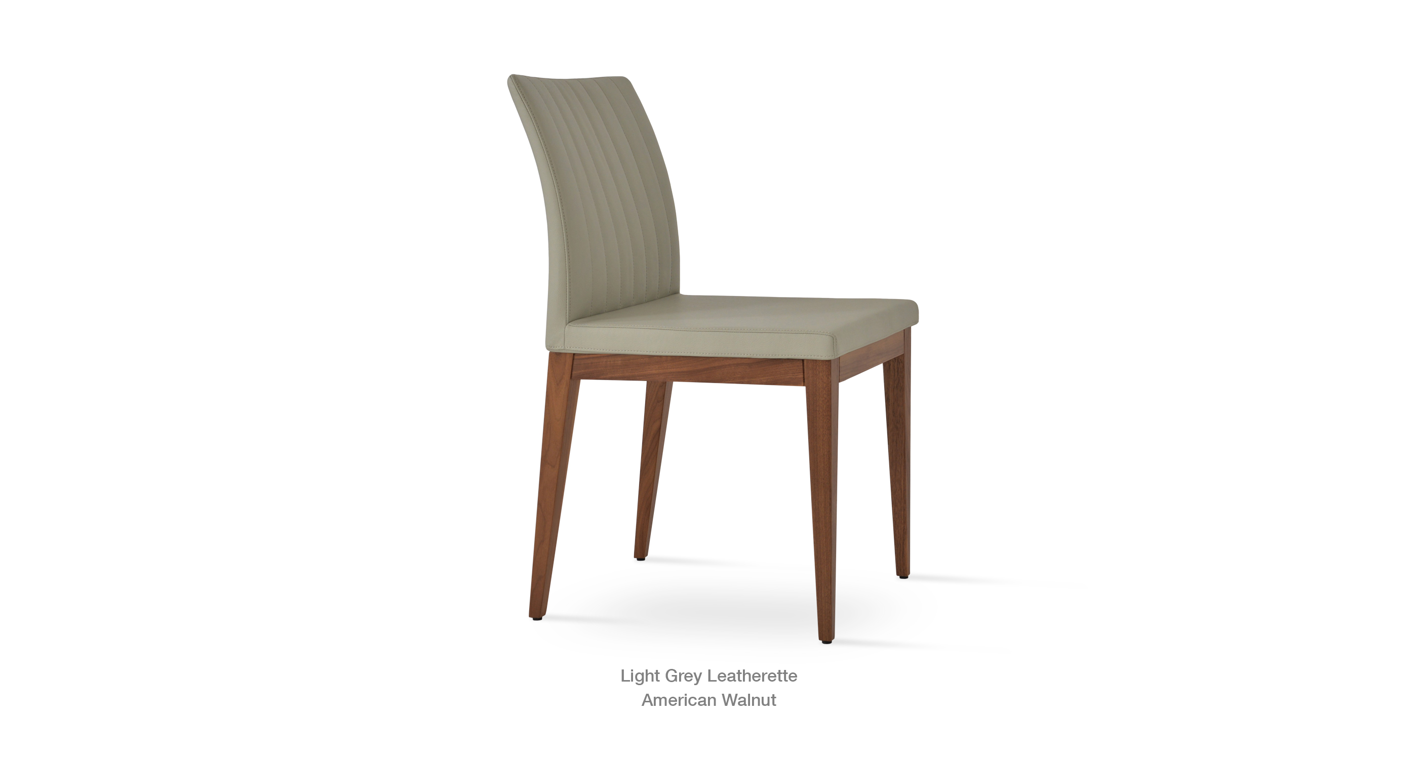 Bottega Wood Light Grey Leatherette