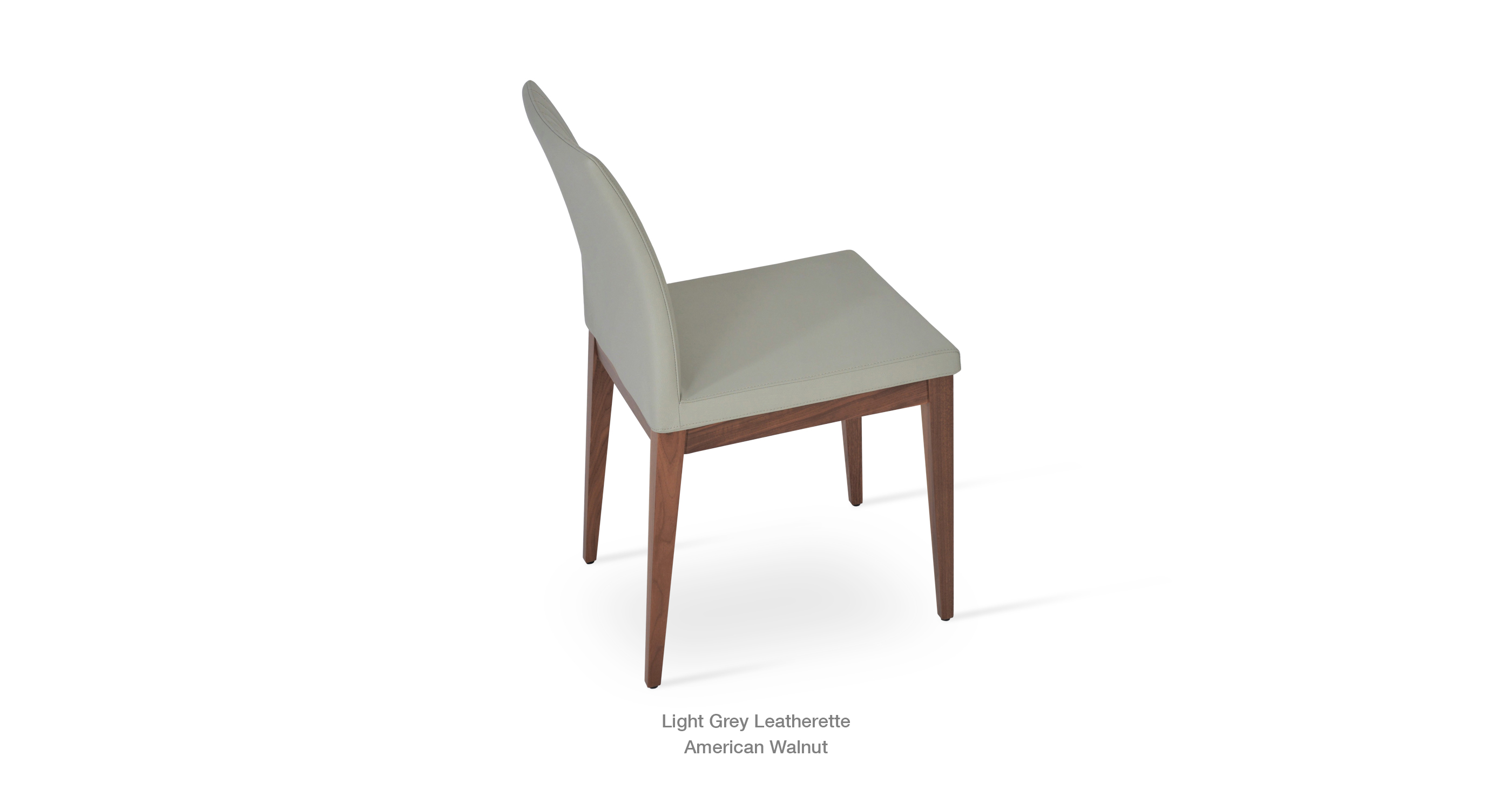 Bottega Wood Lightgrey Leatherette