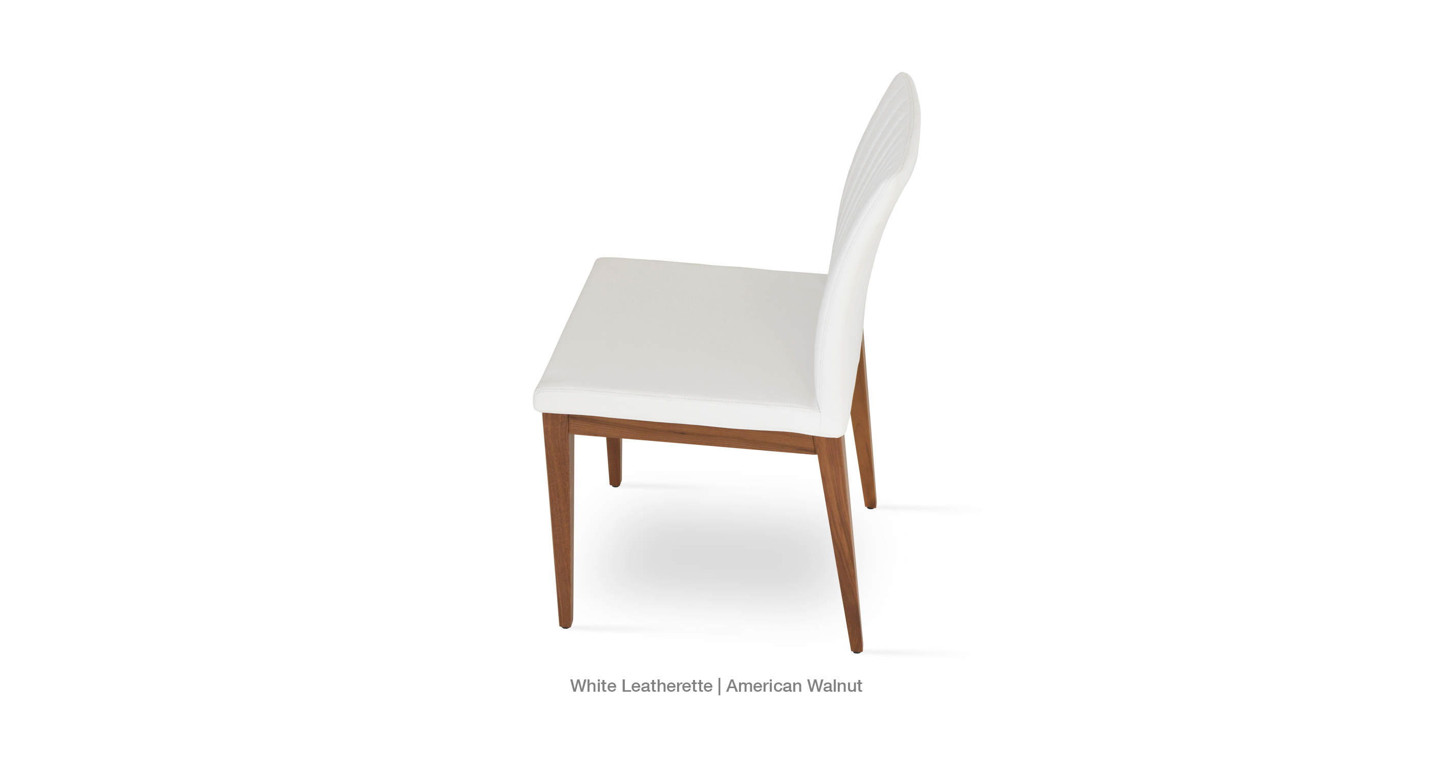 Zeyno wood white leatherette
