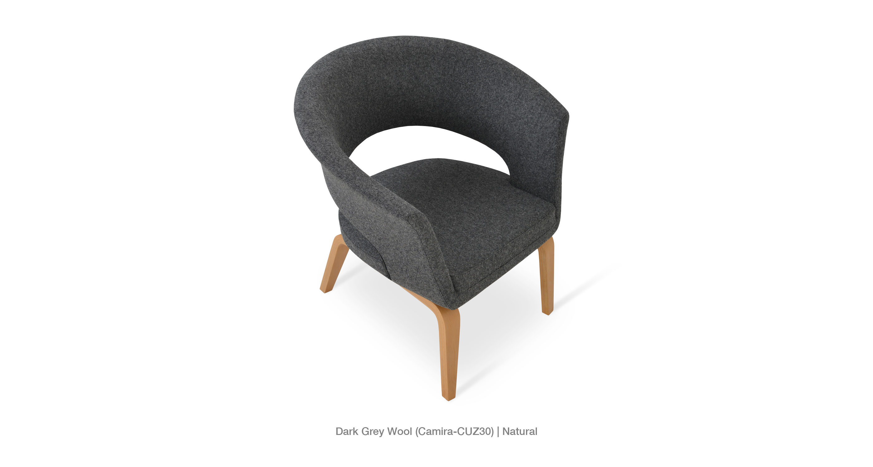 dark grey wool - natural