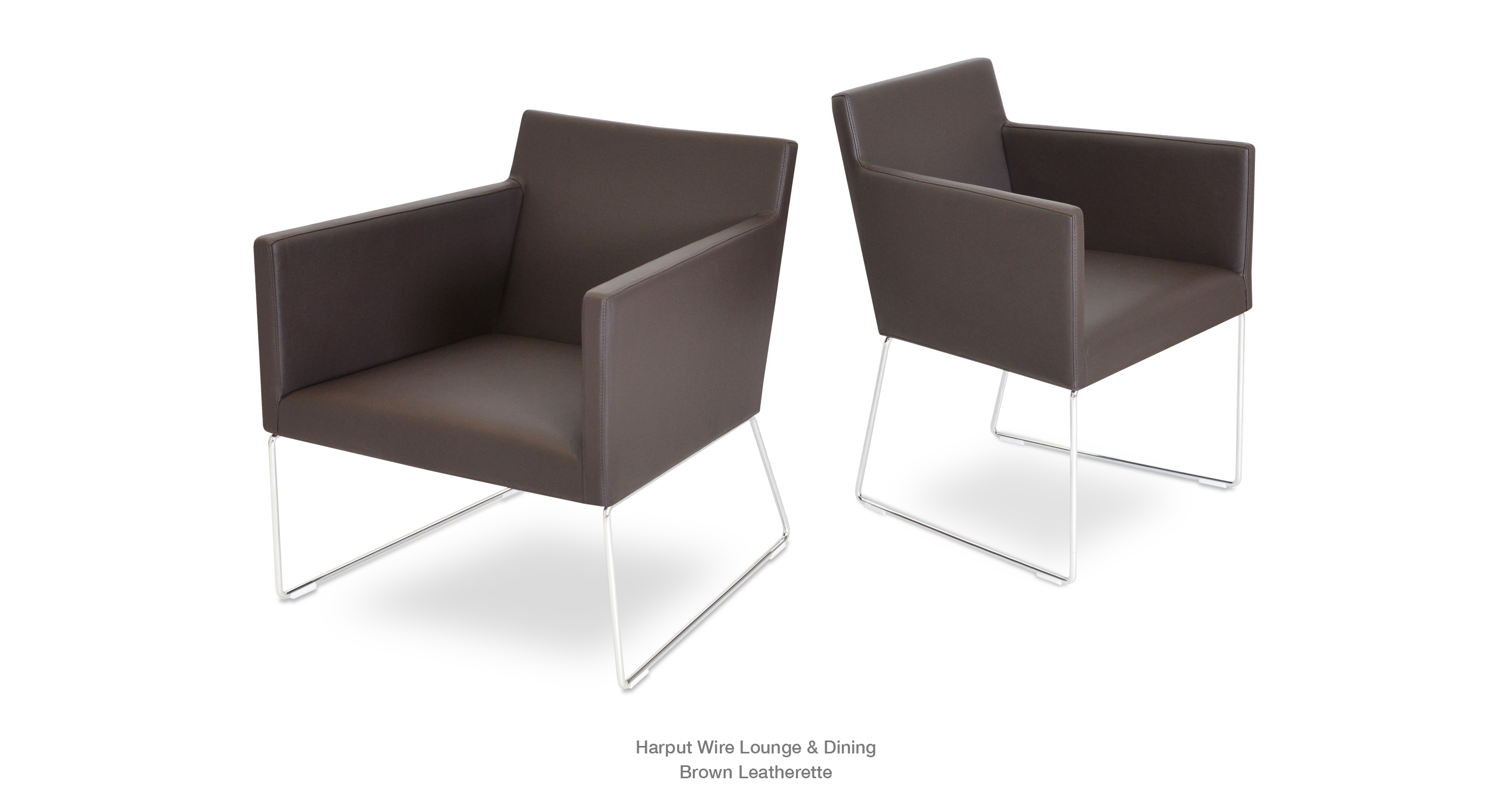 Harput Wire Lounge Dining Brown