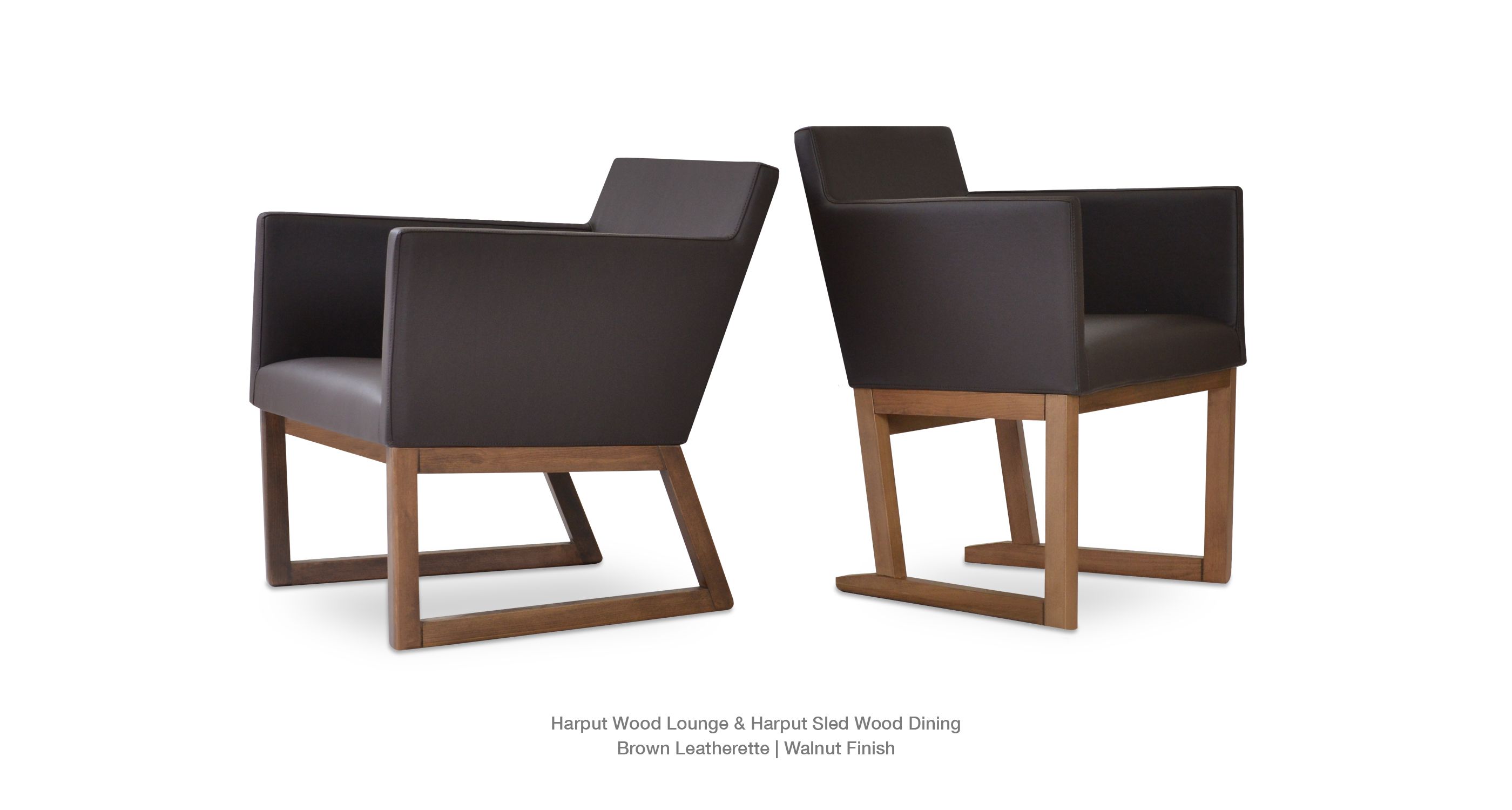 Harput Wood Lounge Brown