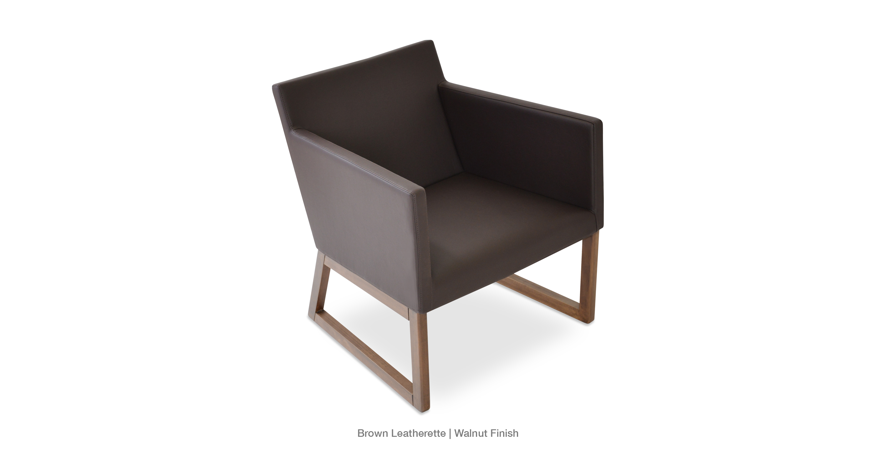 Harput Wood Lounge Brown Leathereet