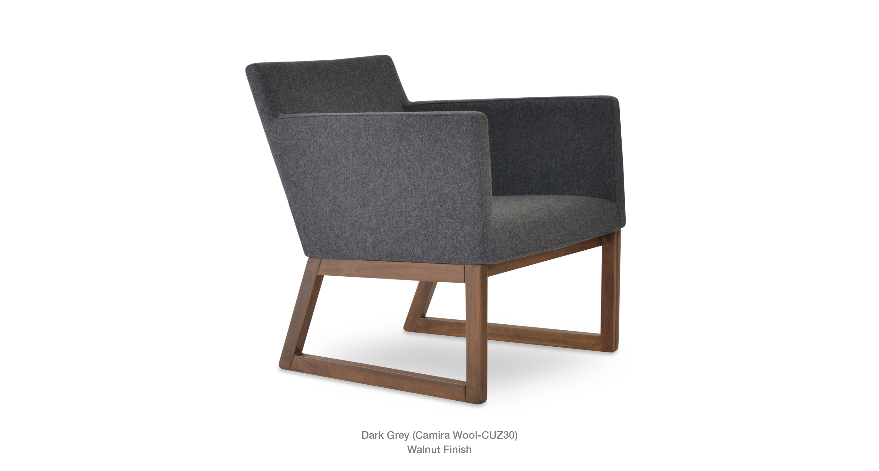 Harput Wood Lounge Darkgrey