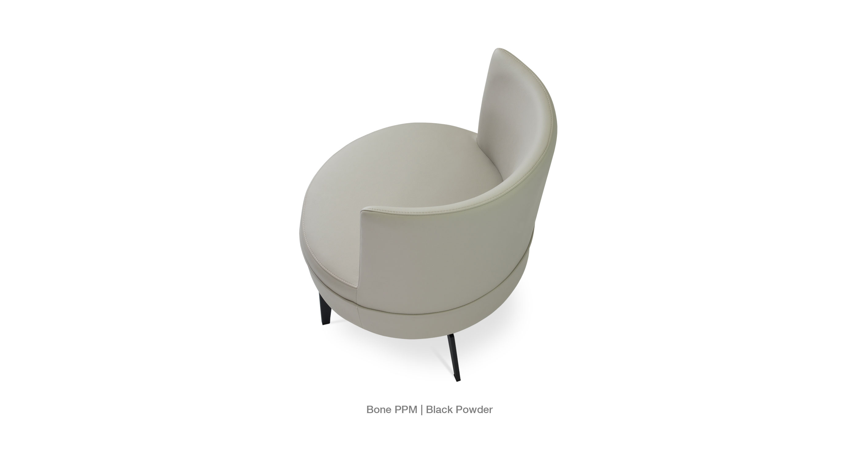 Hilton Lounge Bone Ppm Black Base