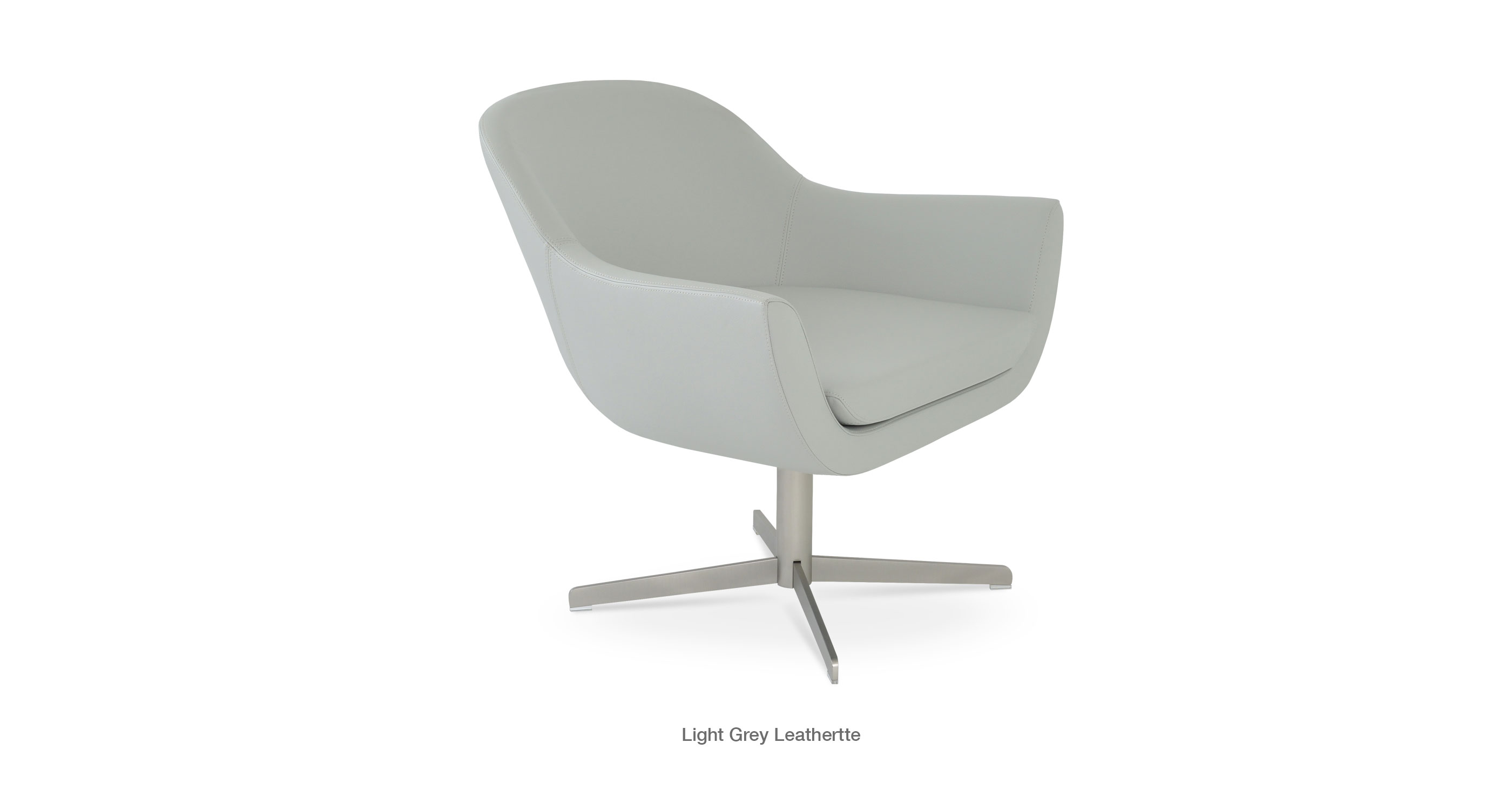 Madison 4 Star Light Grey Leatherette