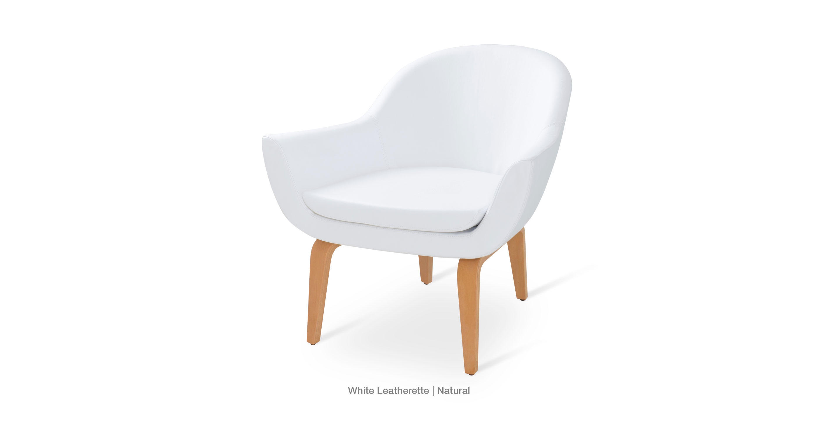 white leatherette - natural
