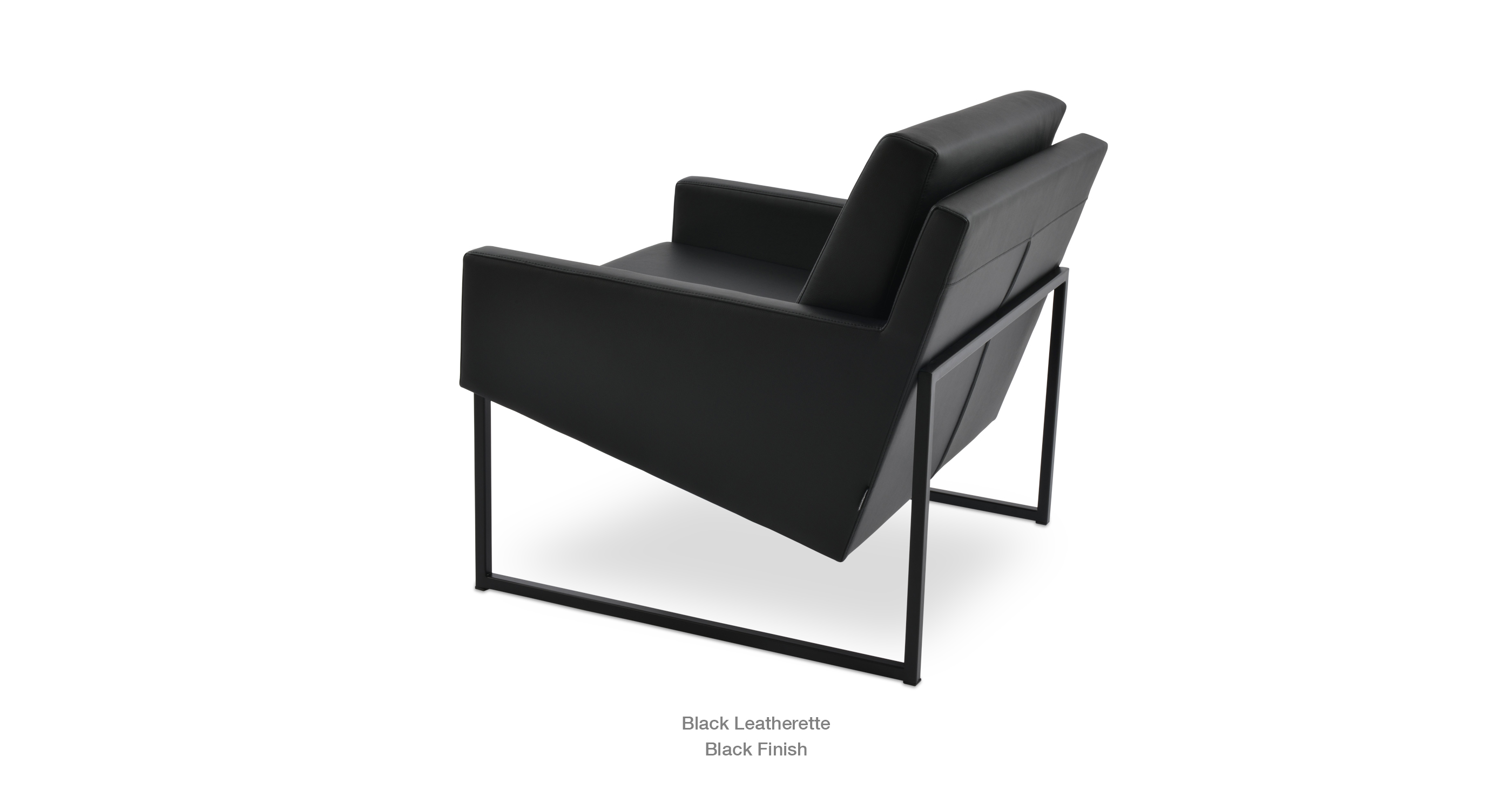 black leatherette - black base