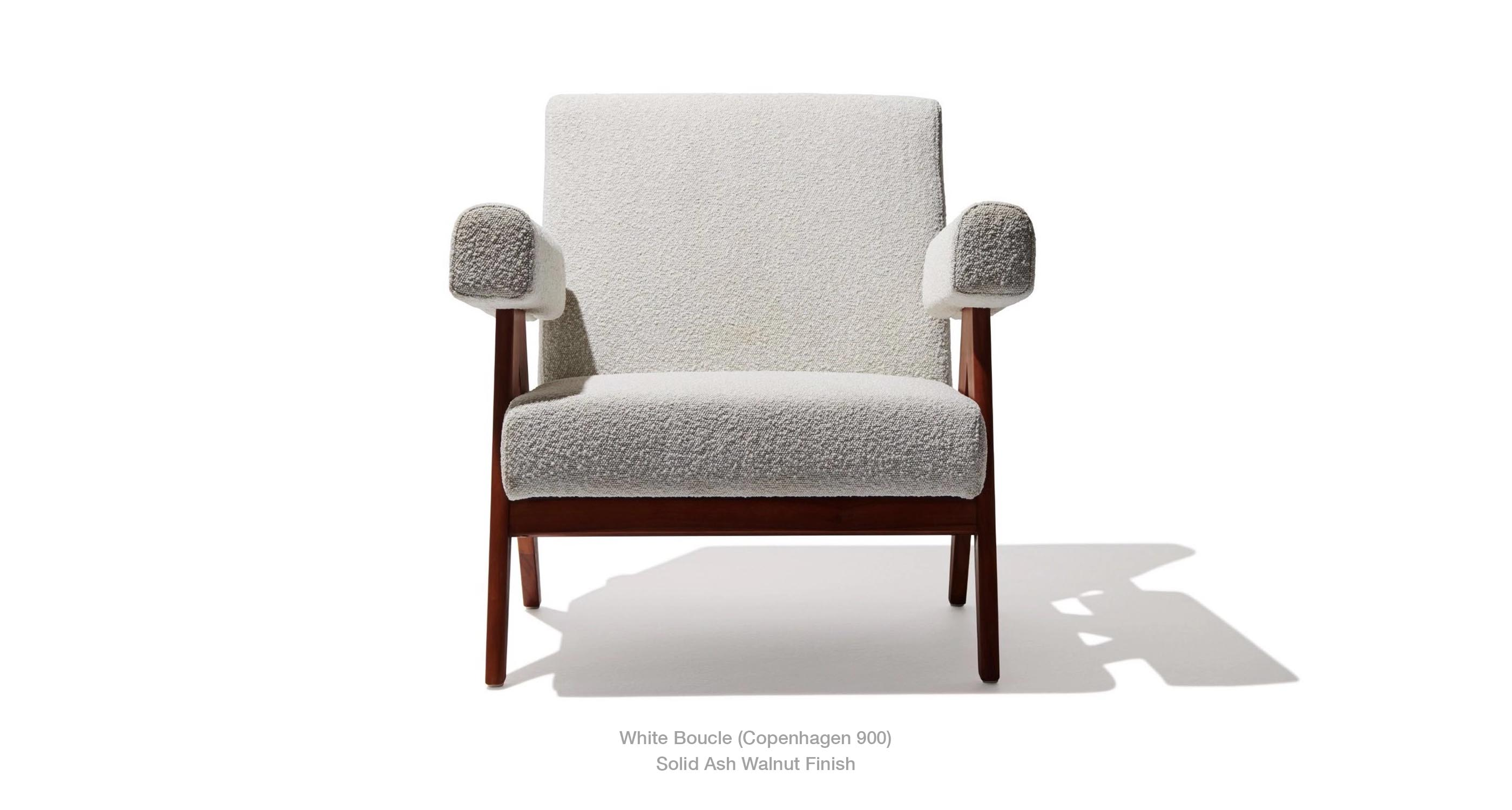 Pierre Lounge White Boucle