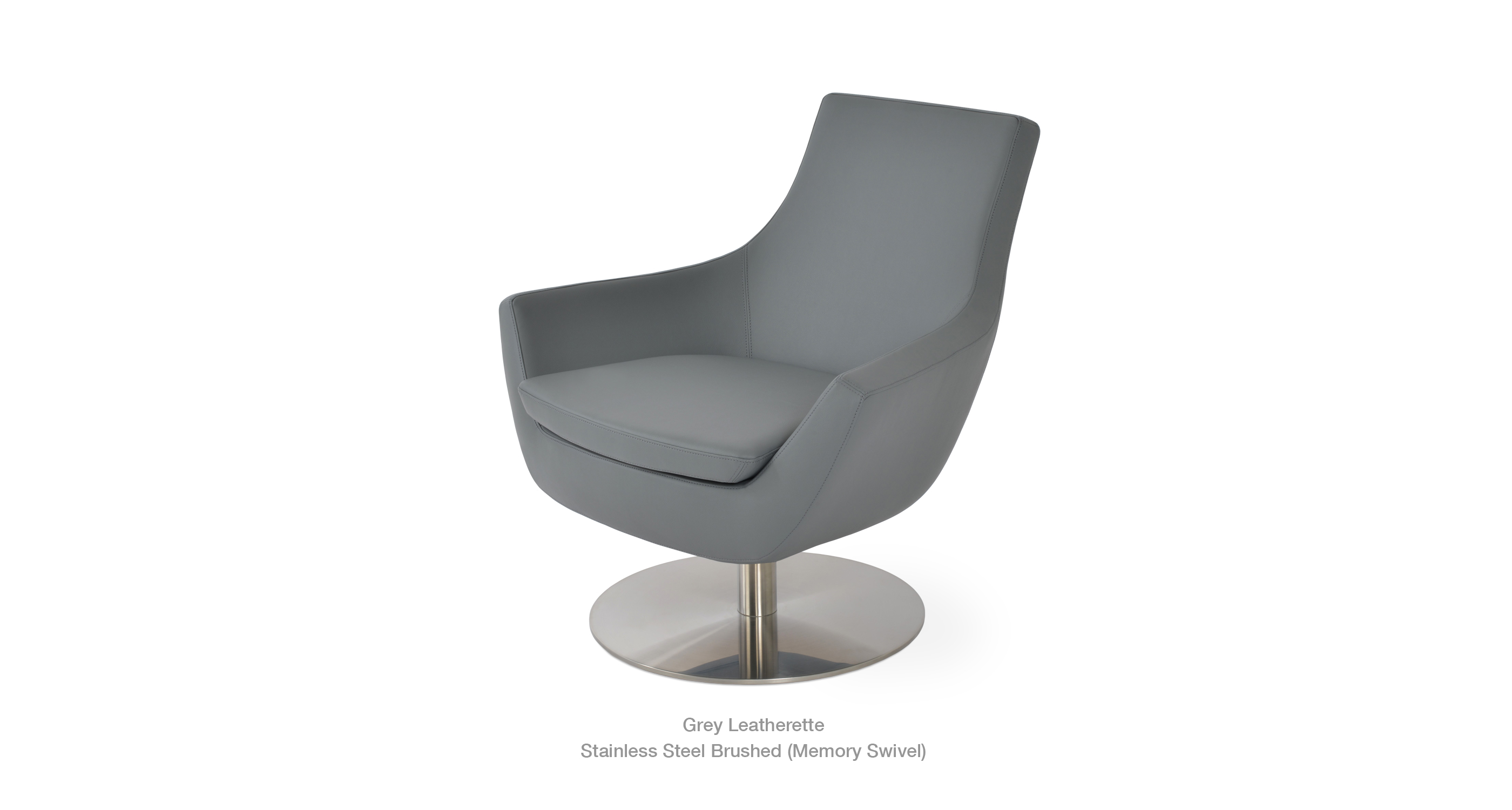 grey leatherette
