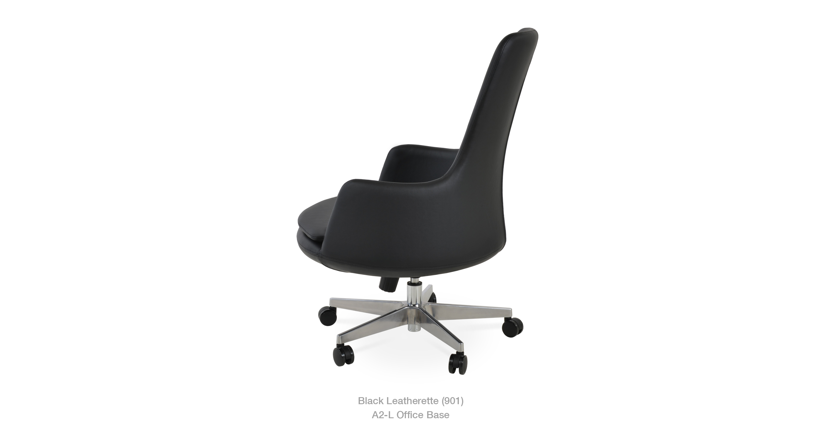 Dervish Hb Office Black Leatherette