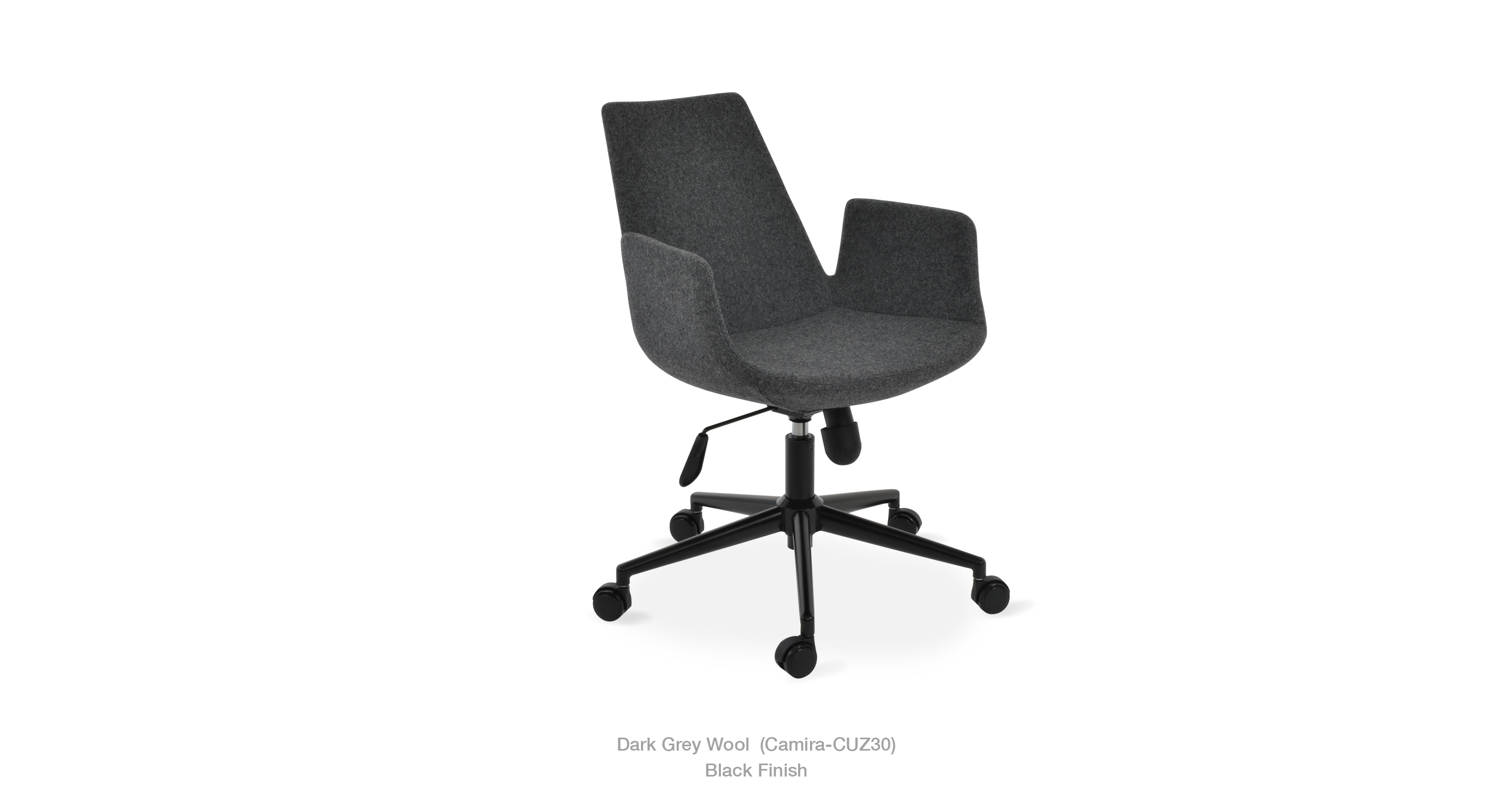 2020 03 15 Eiffel Arm Office Dark Grey Wool Black