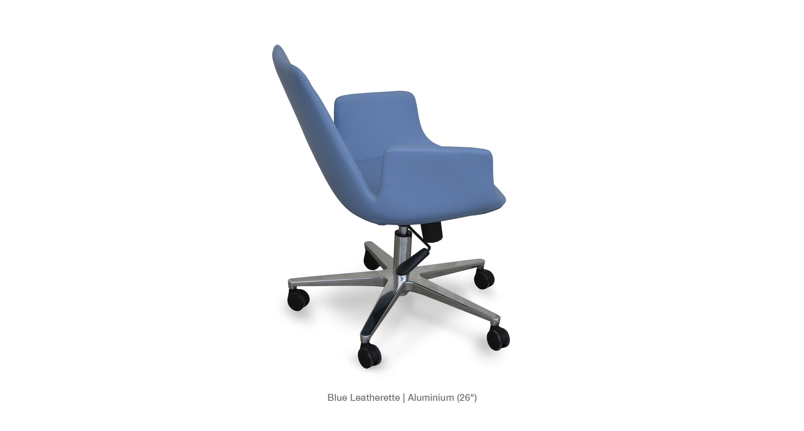 Eiffel Arm Office Blue Leatherette